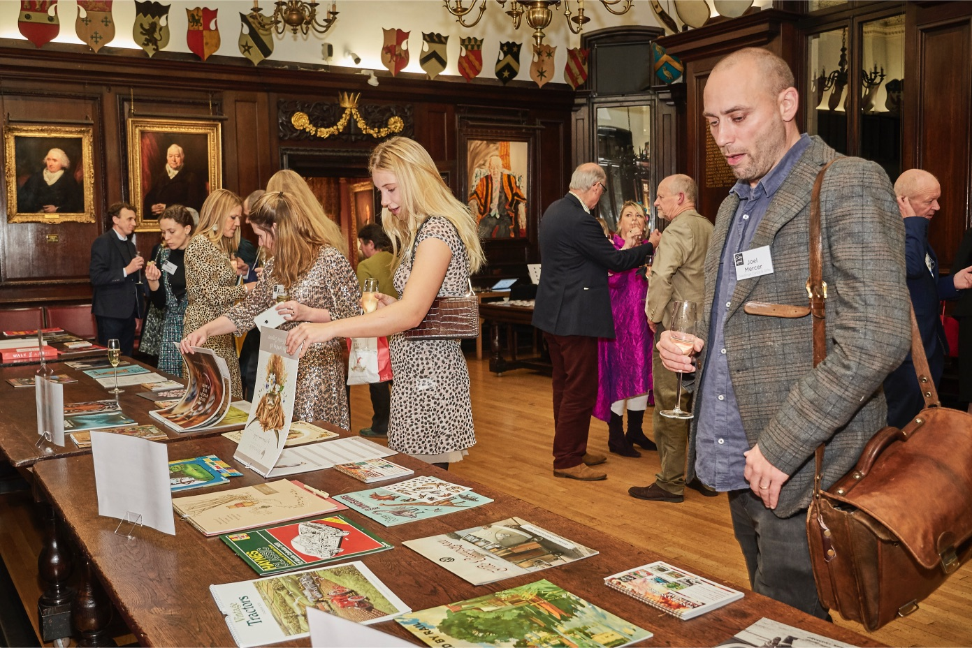 Above: Guests enjoyed looking at the finalists that were on display in the reception rooms.