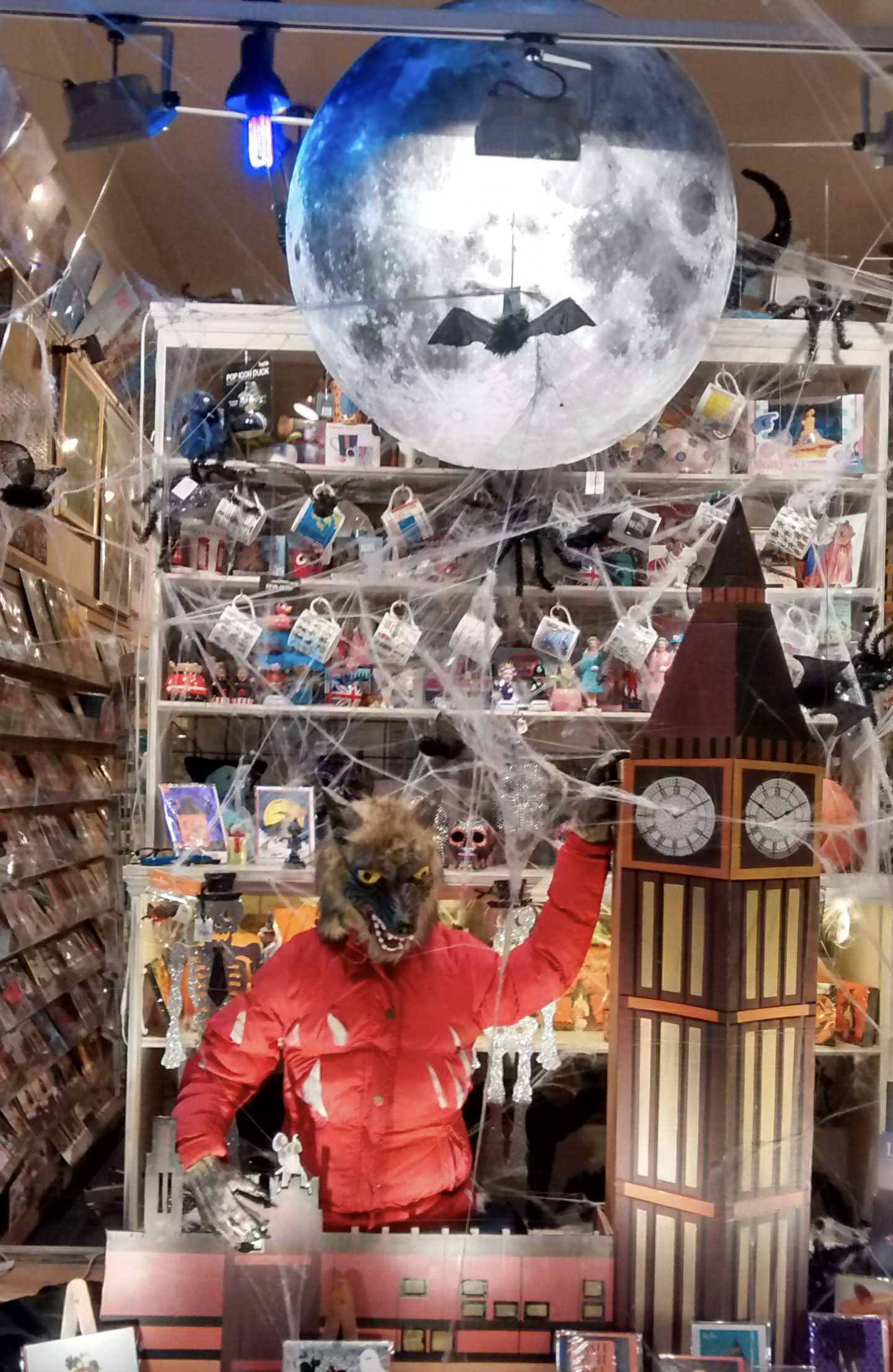 Above: Medici Gallery, Kensington is another indie who put great stall by its Halloween window display.