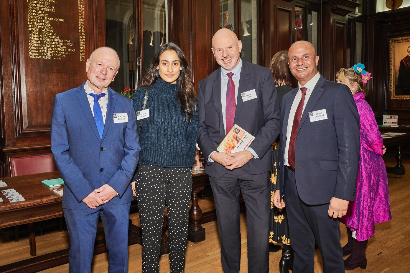 Above: (left-right) PG's Warren Lomax with Premier Paper's Sanya Shafiq, Dave Jones and Sham Ahmed.