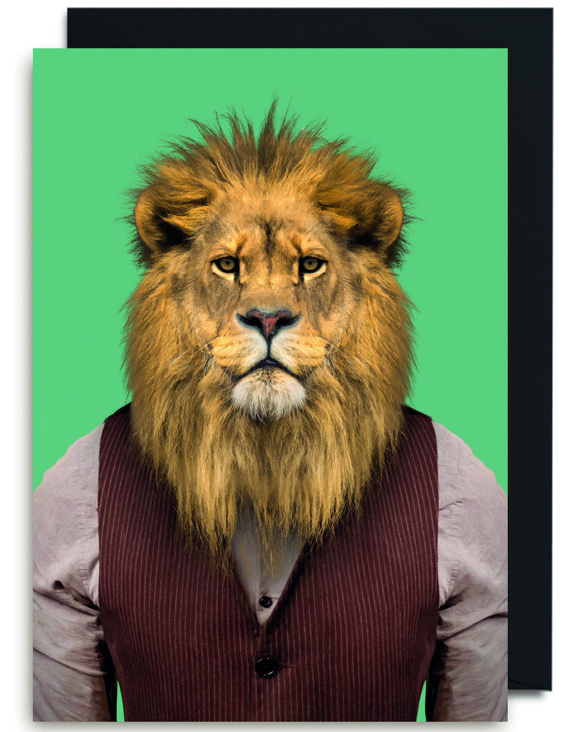 Above: A hipster lion card from Lagom.