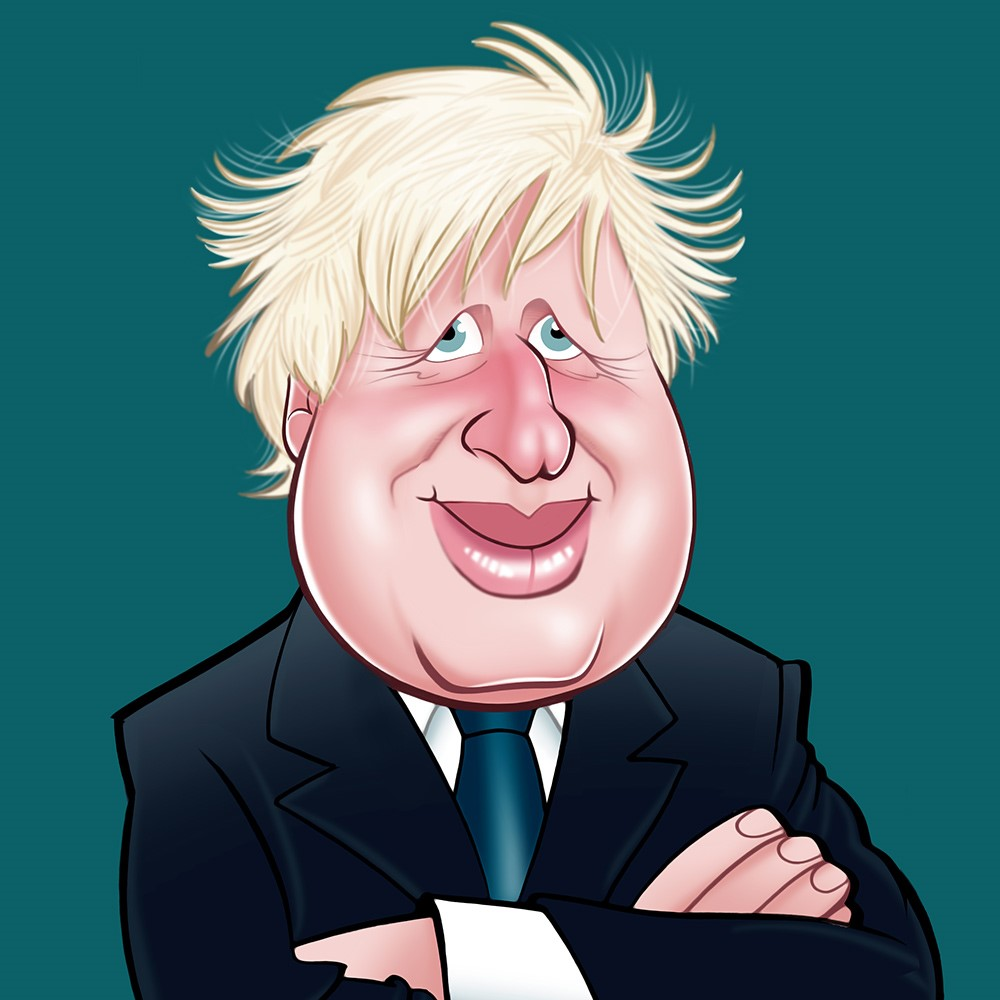 Above: Boris Johnson as depicted on a Really Wild card.