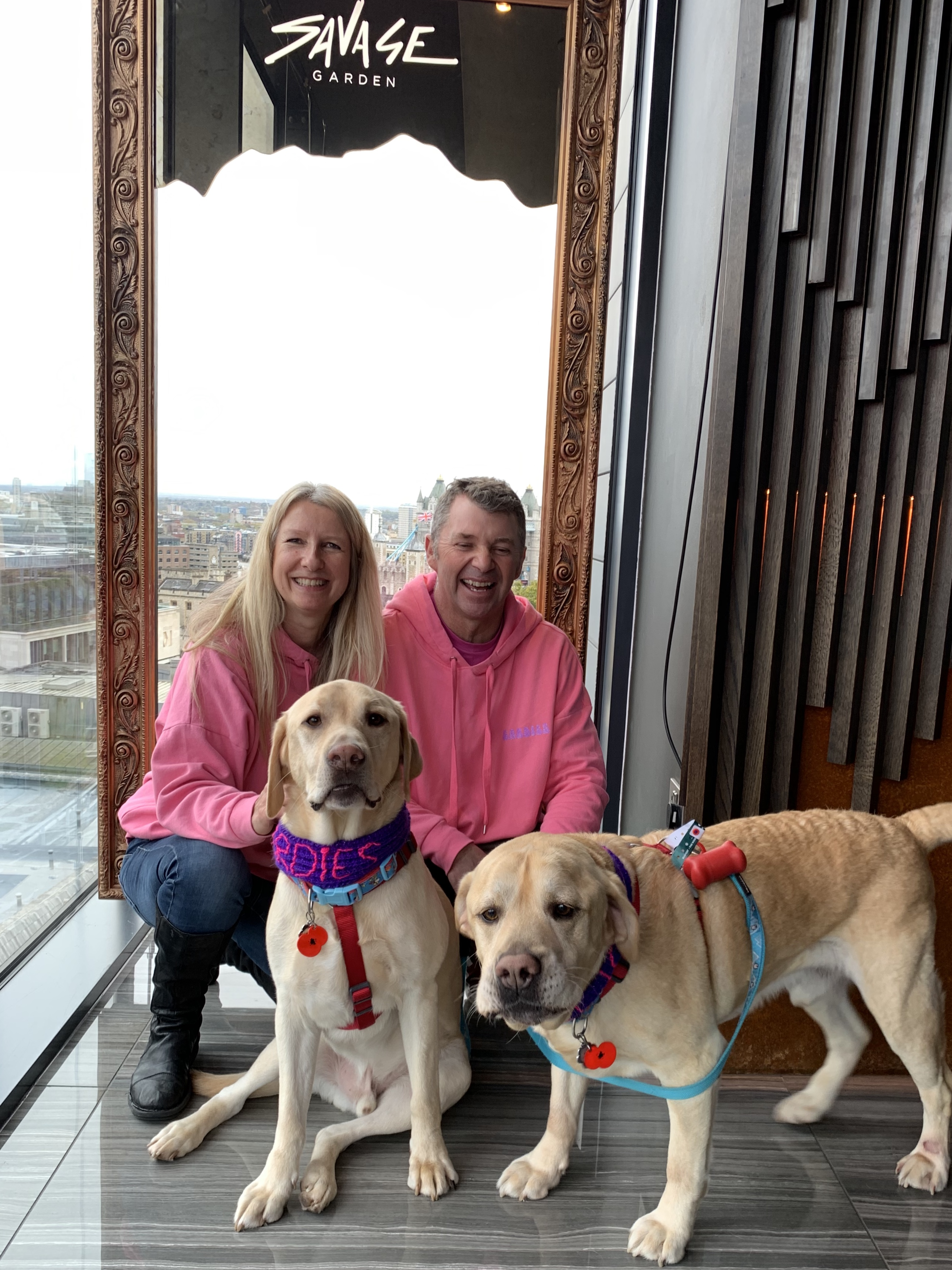 Above: Cardies' Jo Sorrell and her husband Andy recently at an awards event which saw their shop proclaimed the Most Pet Friendly in the UK.