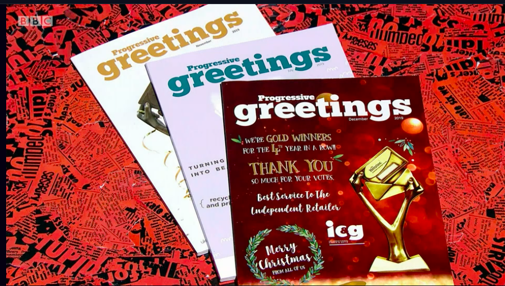 Above: The three covers of PG that were shown on the programme.