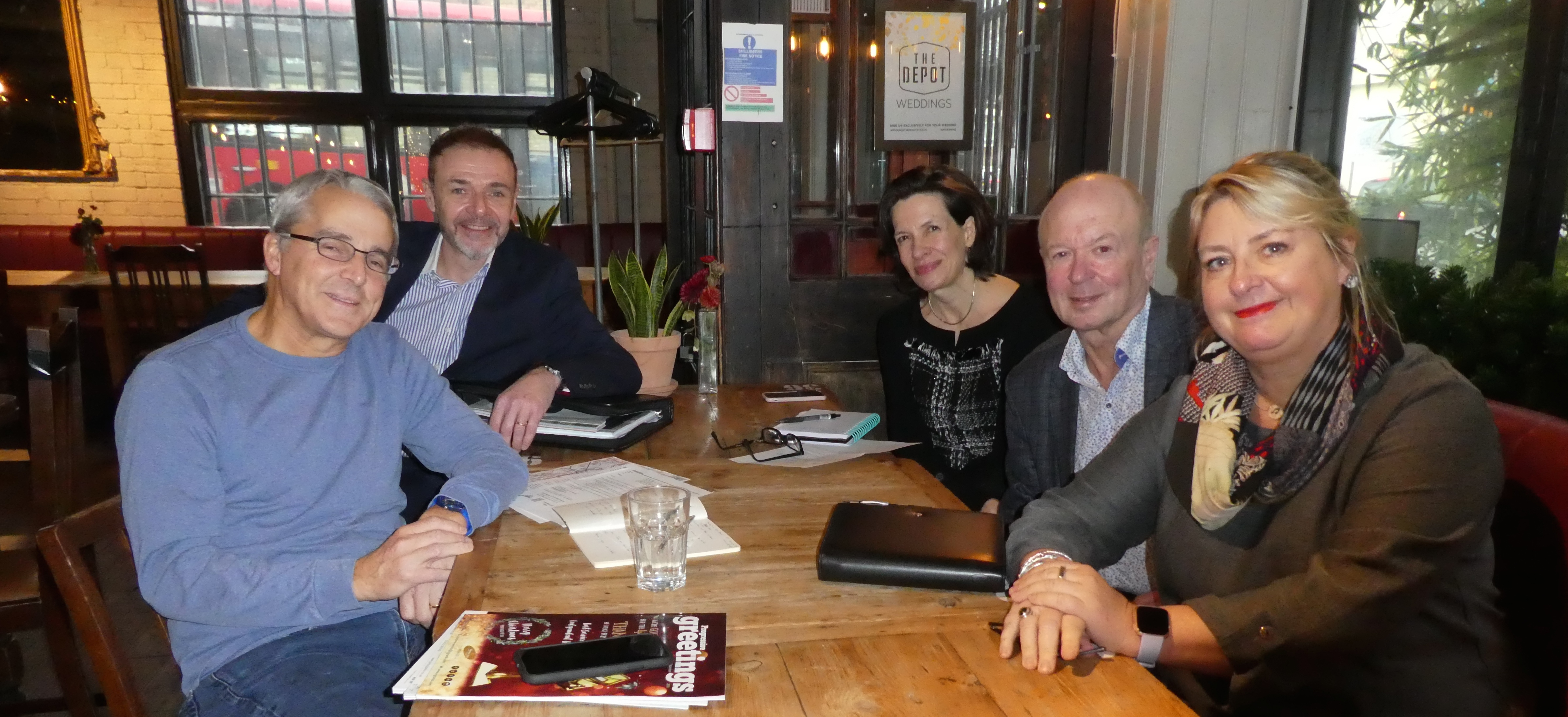 Above: George White (front left) met up with the UK GCA's Amanda Fergusson (back right), council member Chris Bryan (of Second Nature) and PG's Jakki Brown last week to exchange how the two trade associations can better work together.