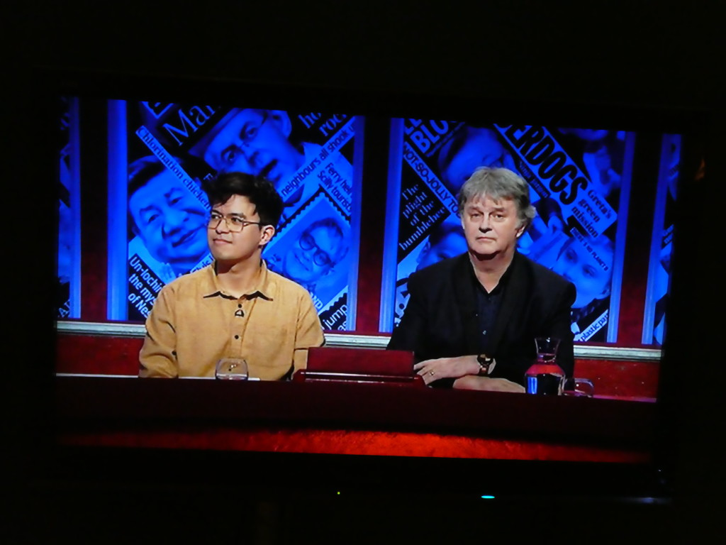 Above: Paul Merton (right) and Phil Wang on the programme.