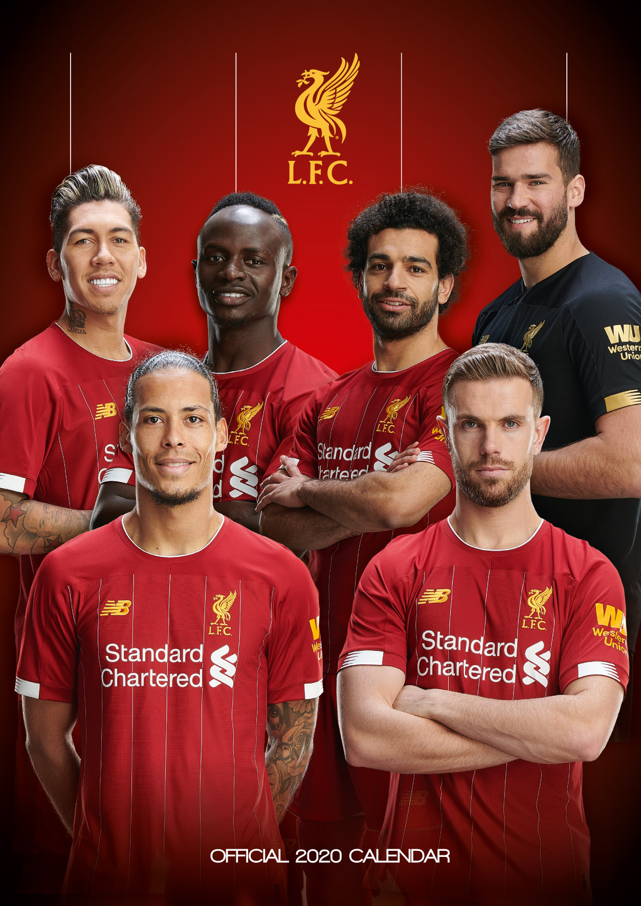 Above: Liverpool FC calendar came top of the Danilo Calendar Chart.