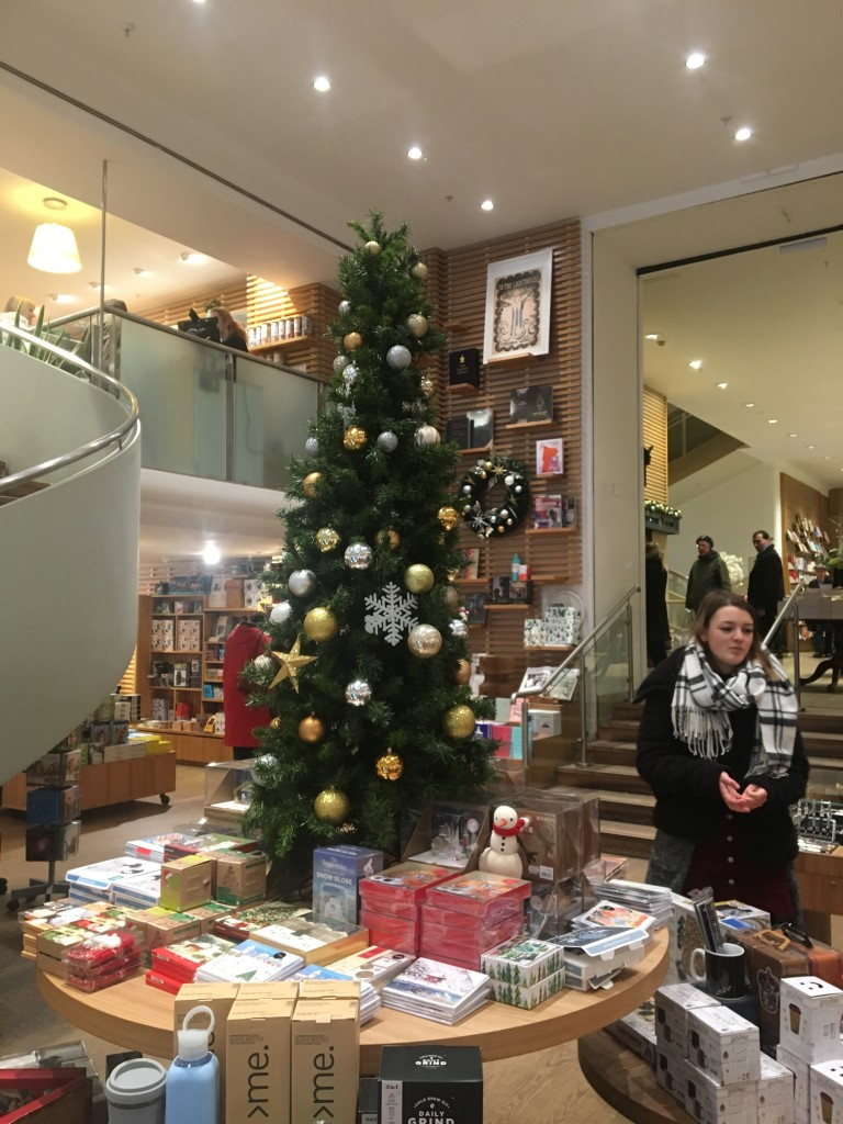 Above: Part of the Christmas box display in Waterstones' Piccadilly store.