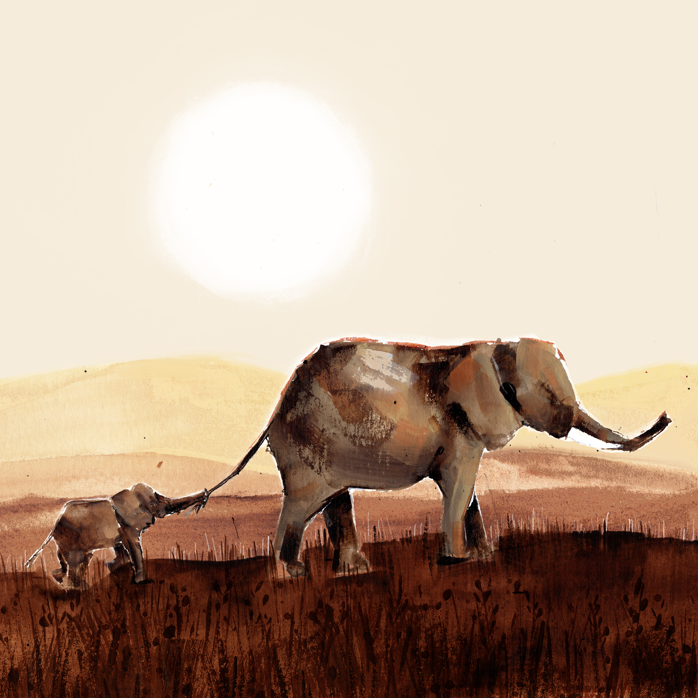 Above: A Paper Turtle favourite, Louise Mulgrew's African elephant with her calf design.