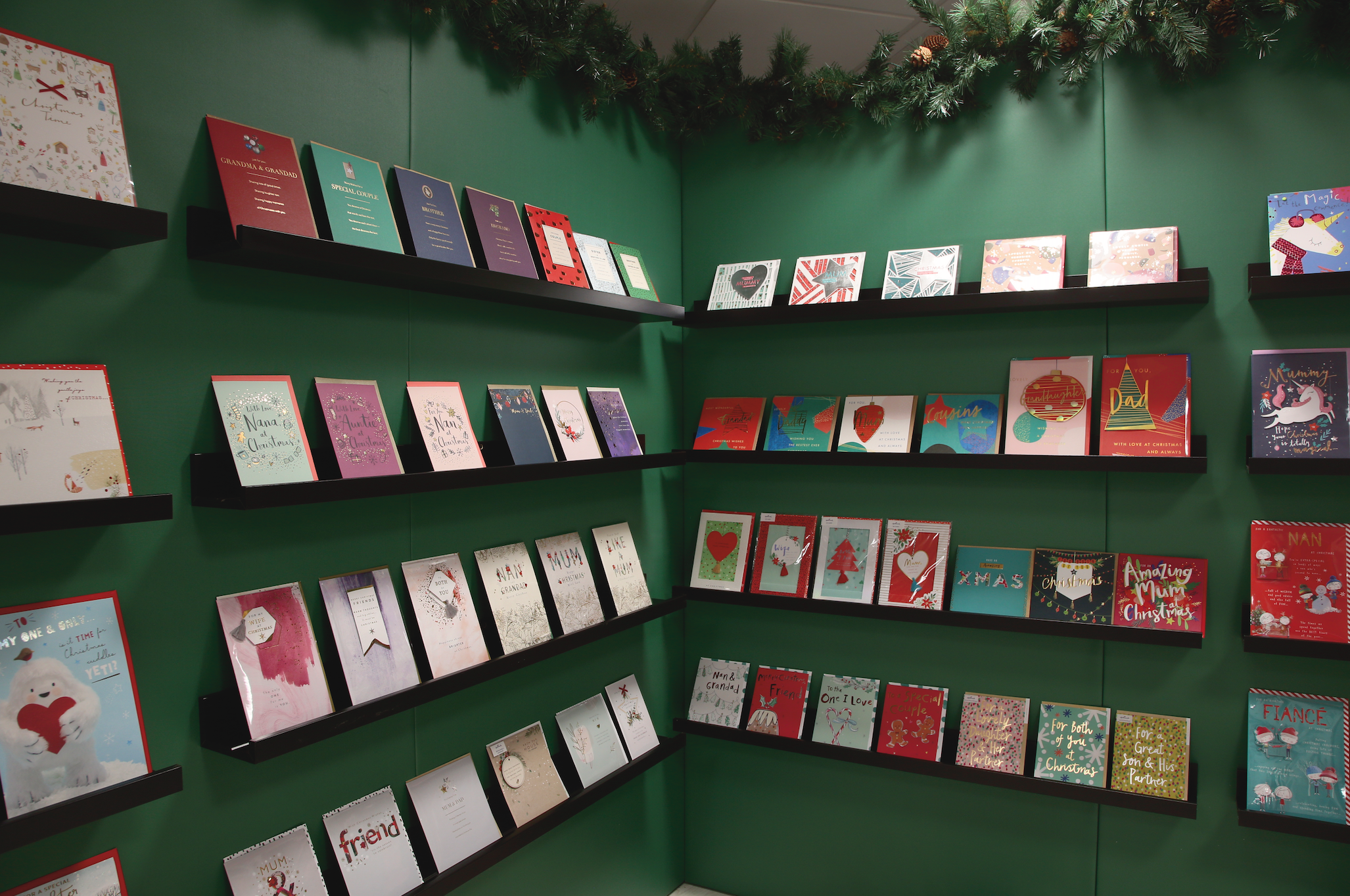 Above: A selection of new Christmas designs from Hallmark which shows a simplified approach to card sizes.