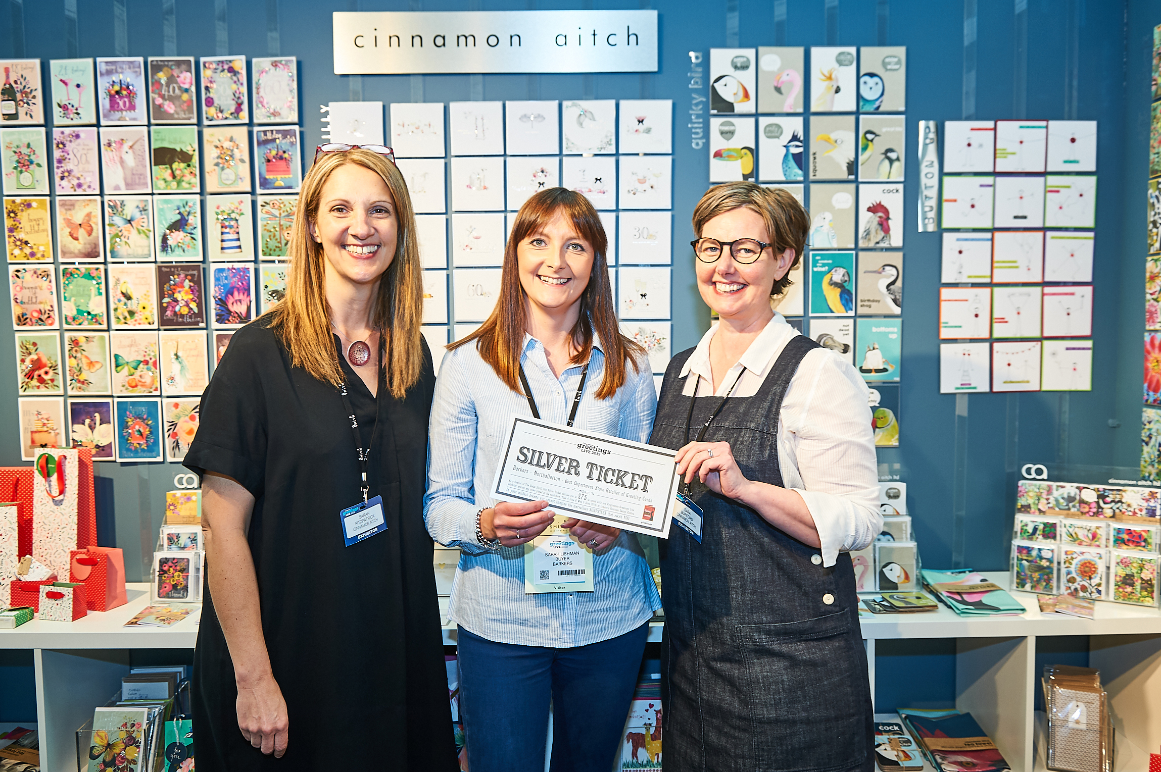 Above: Barkers' Sarah Lishman (centre) was delighted to spend her Silver ticket with Cinnamon Aitch at PG Live last June.