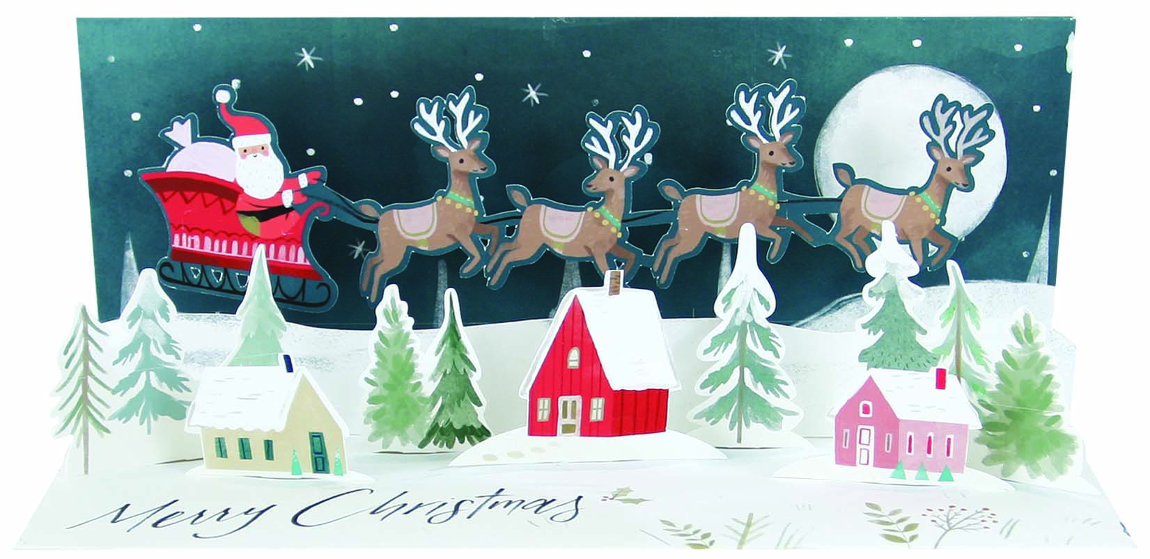Above: Noel Tatt's Christmas cards sold well for the Bentley and Maddison shops.