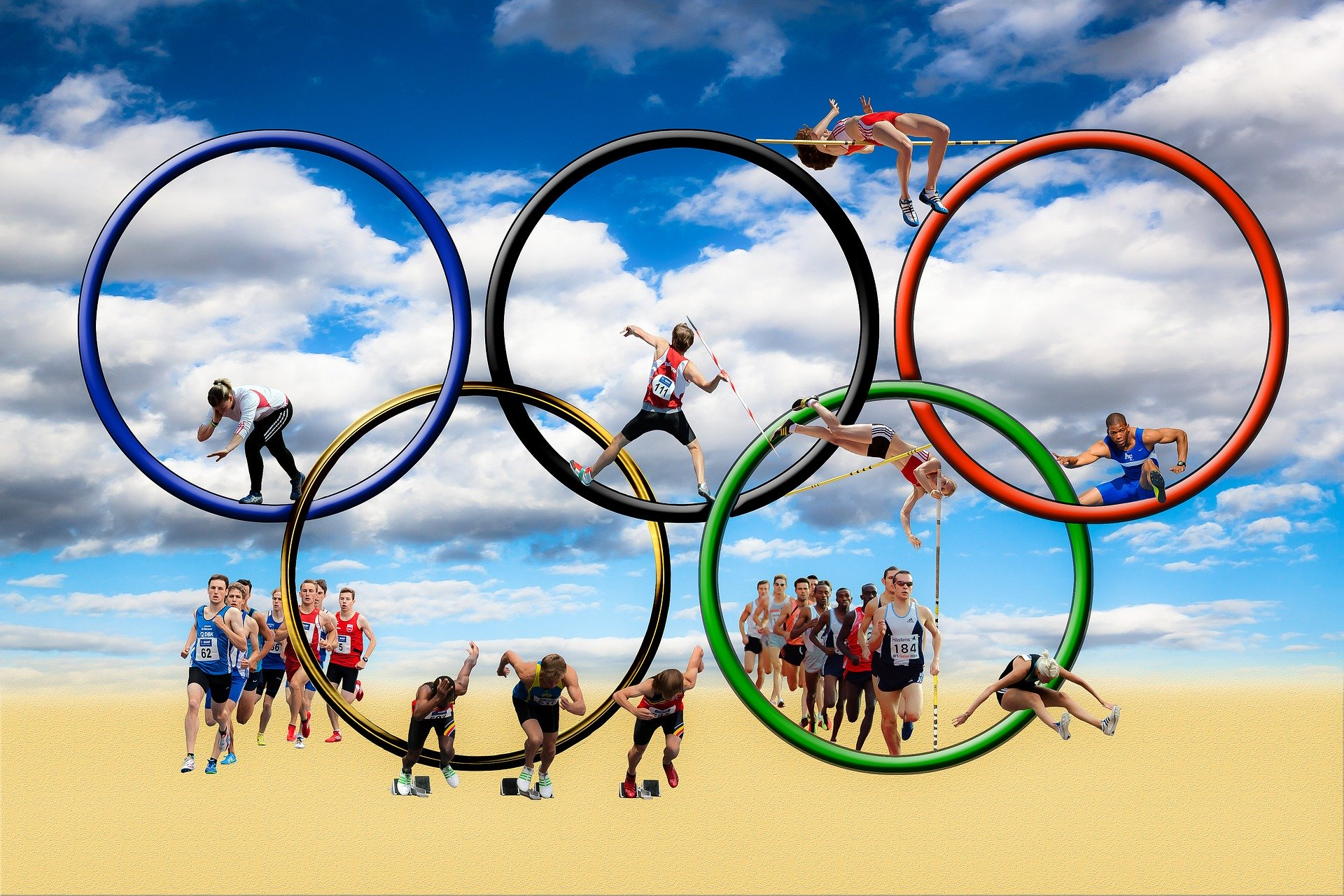 Above: The Olympic rings are off to Tokyo this summer.