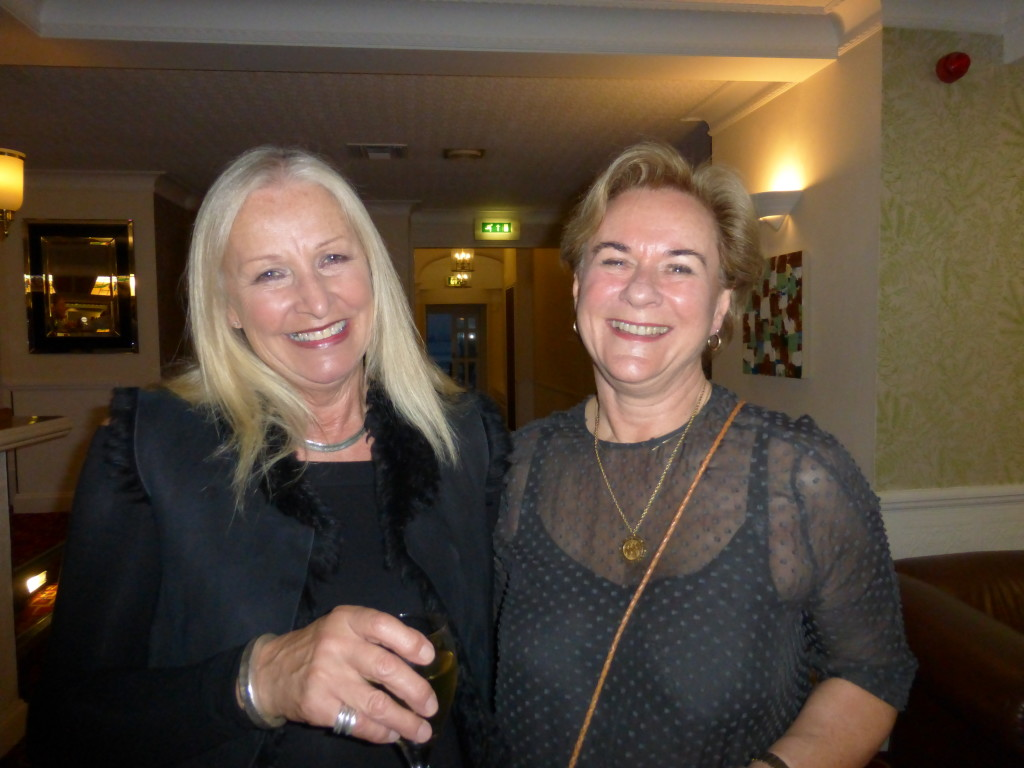 Above: Jenny Cummins (right) with Jennie Procter, co-owner of Scribbler at The Ladder Club in 2018.