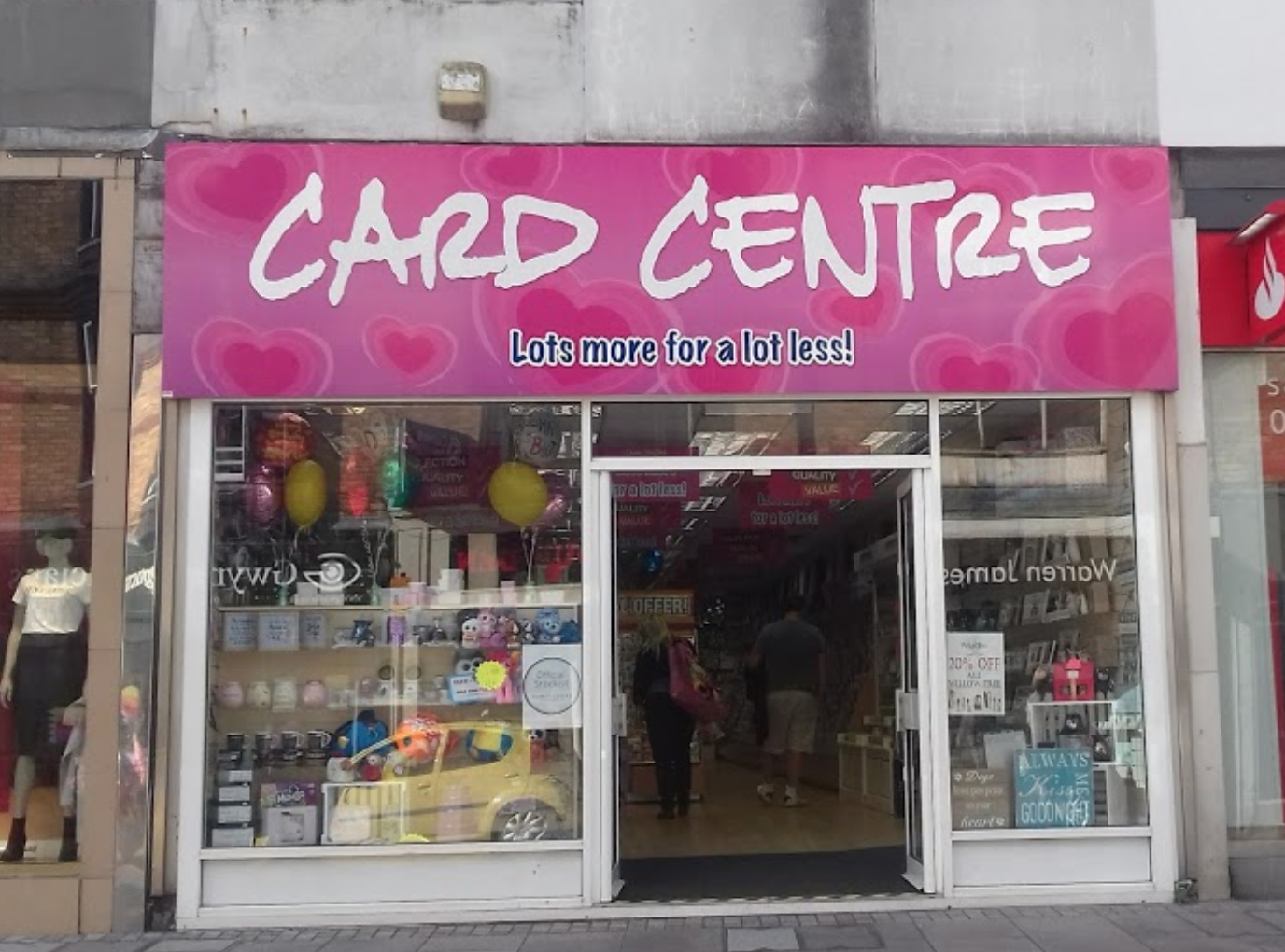 Above: The Card Centre shop in Pontypridd was closed for two days as a result of the havoc caused by the weather.