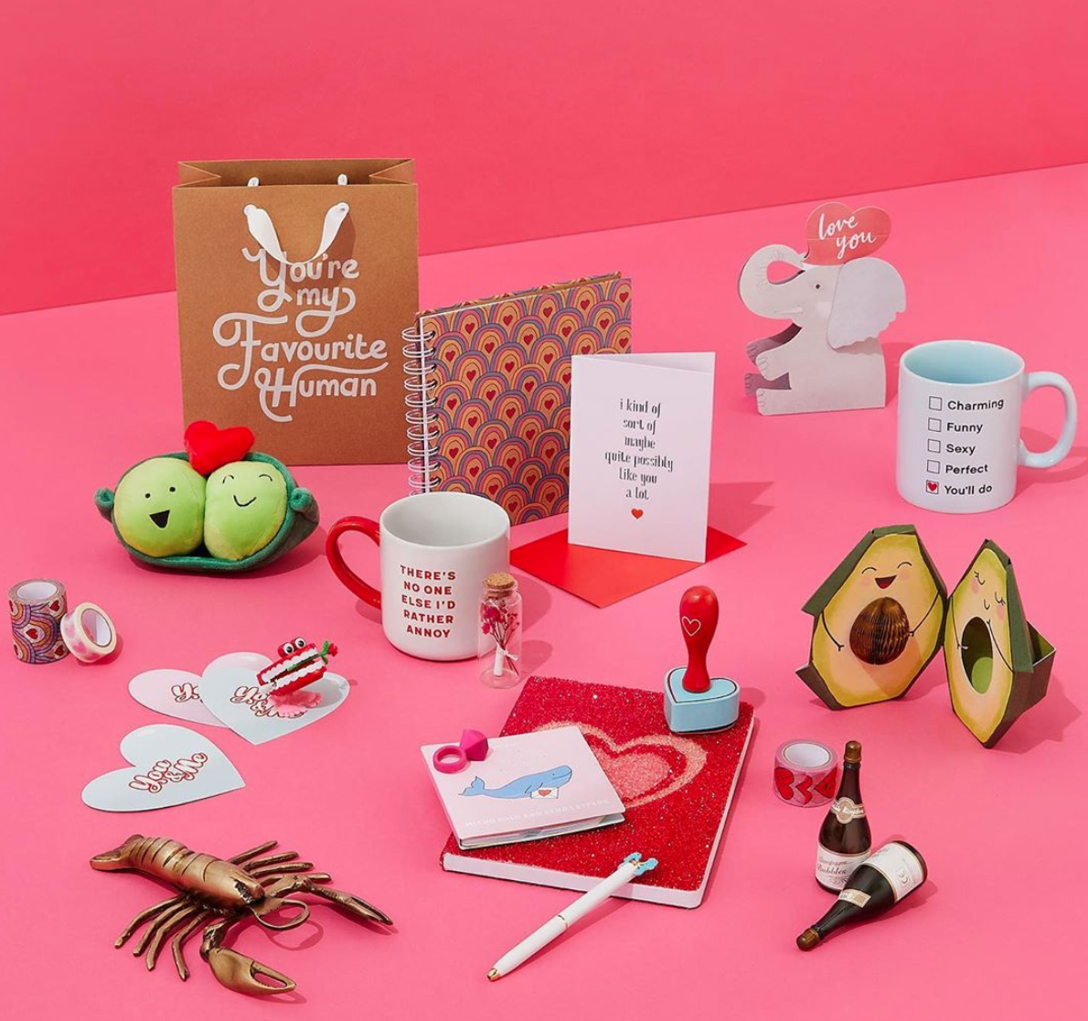 Above: Paperchase's Valentine's selection and marketing was in tune with its move to embrace a 'friendship' send.