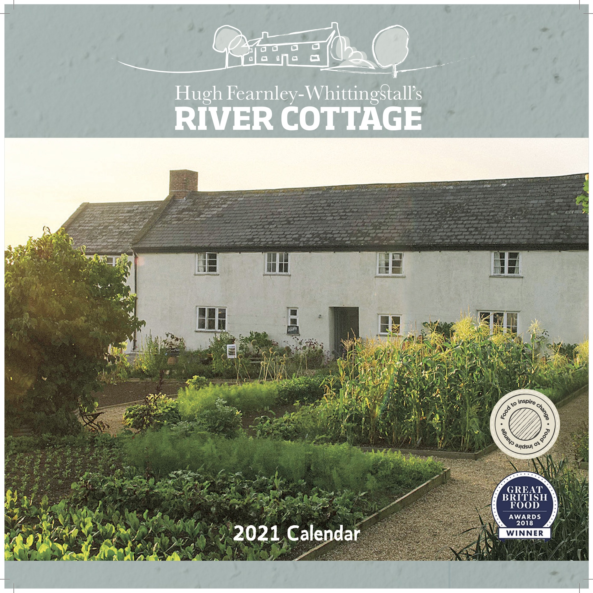Above: Carousel's River Cottage wall calendar is one of 100 items in its 2021 range to have plastic-free packaging.