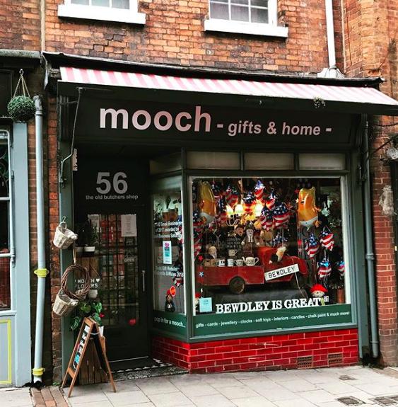 Above: Mooch's store in Bewdley.