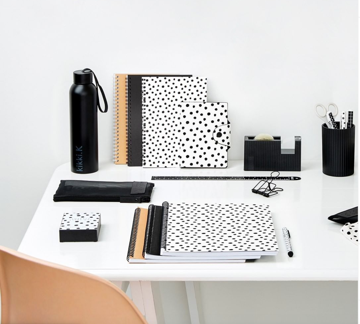 Above: The kikki.K collections all have echoes of Swedish design as well as being fashion reflective.