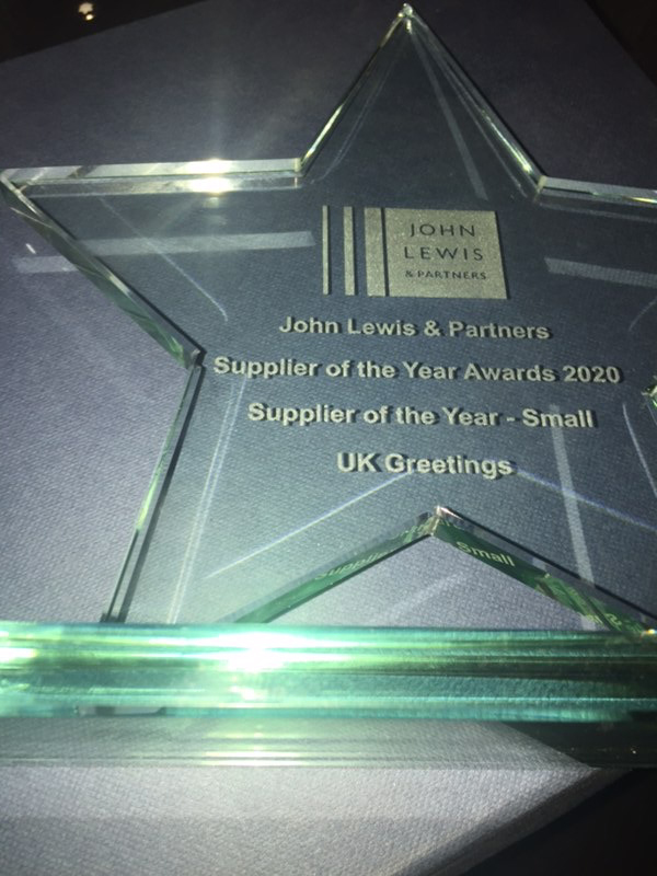 Above: The award trophy which UKG was delighted to take back to its Dewsbury HQ.