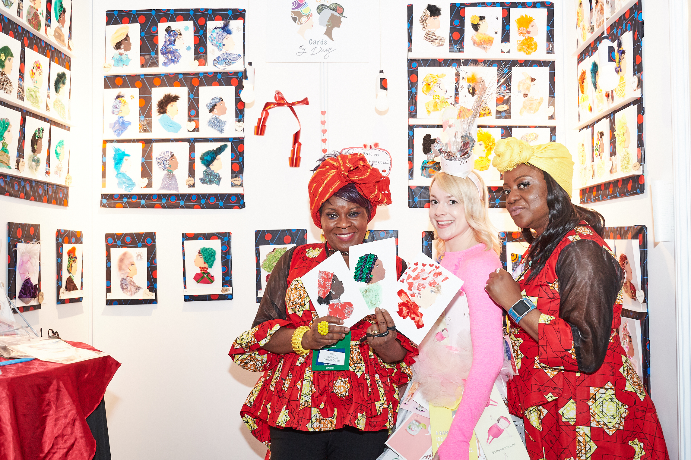 Above: Dayo (left) on her stand at PG Live.