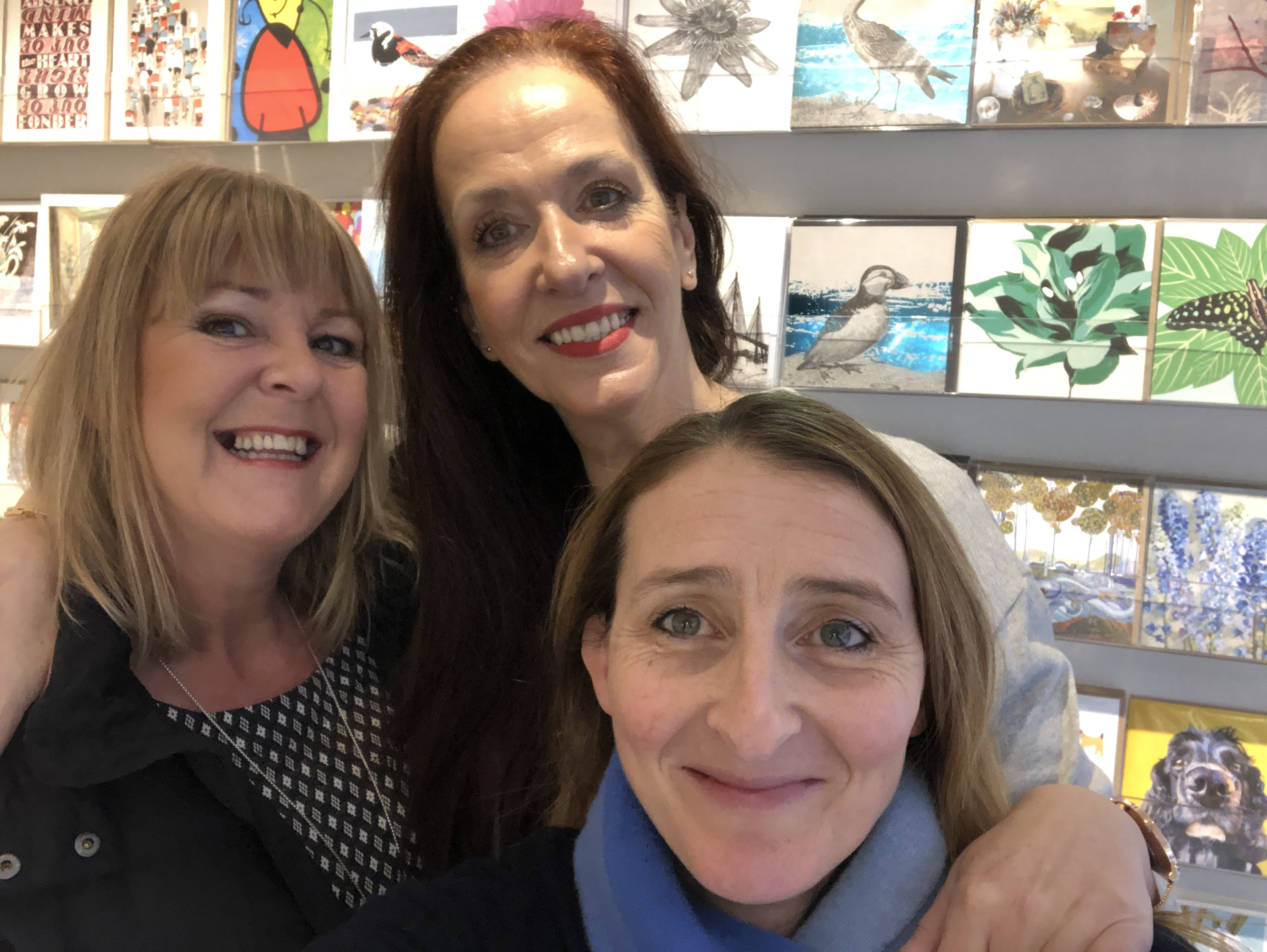Above: Corinne Forbes (left) with Nikki Halliday owner of Bay Tree Company Edinburgh (front) and shop manager Maggie Marr.