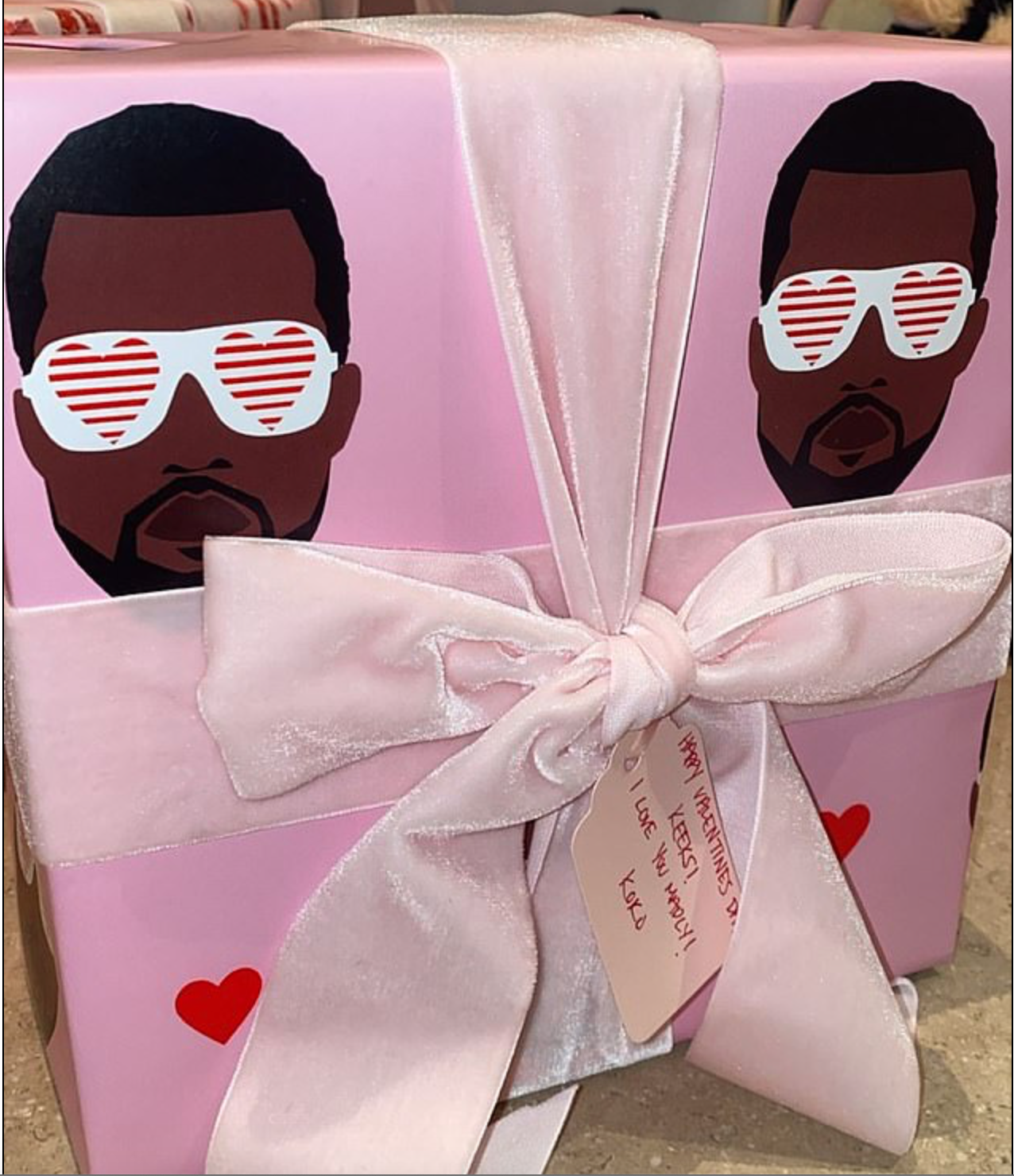Above: The Valentine's Day gift Khloe Kardashian gave to her sis.