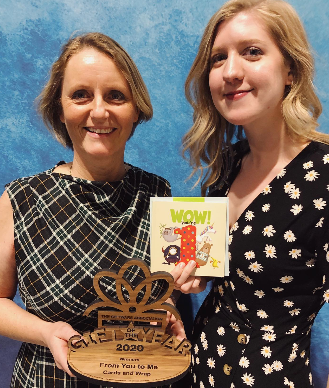 Above:From You to Me's WOW! You're…Birthday Books range scooped the Cards and Wrap award category.