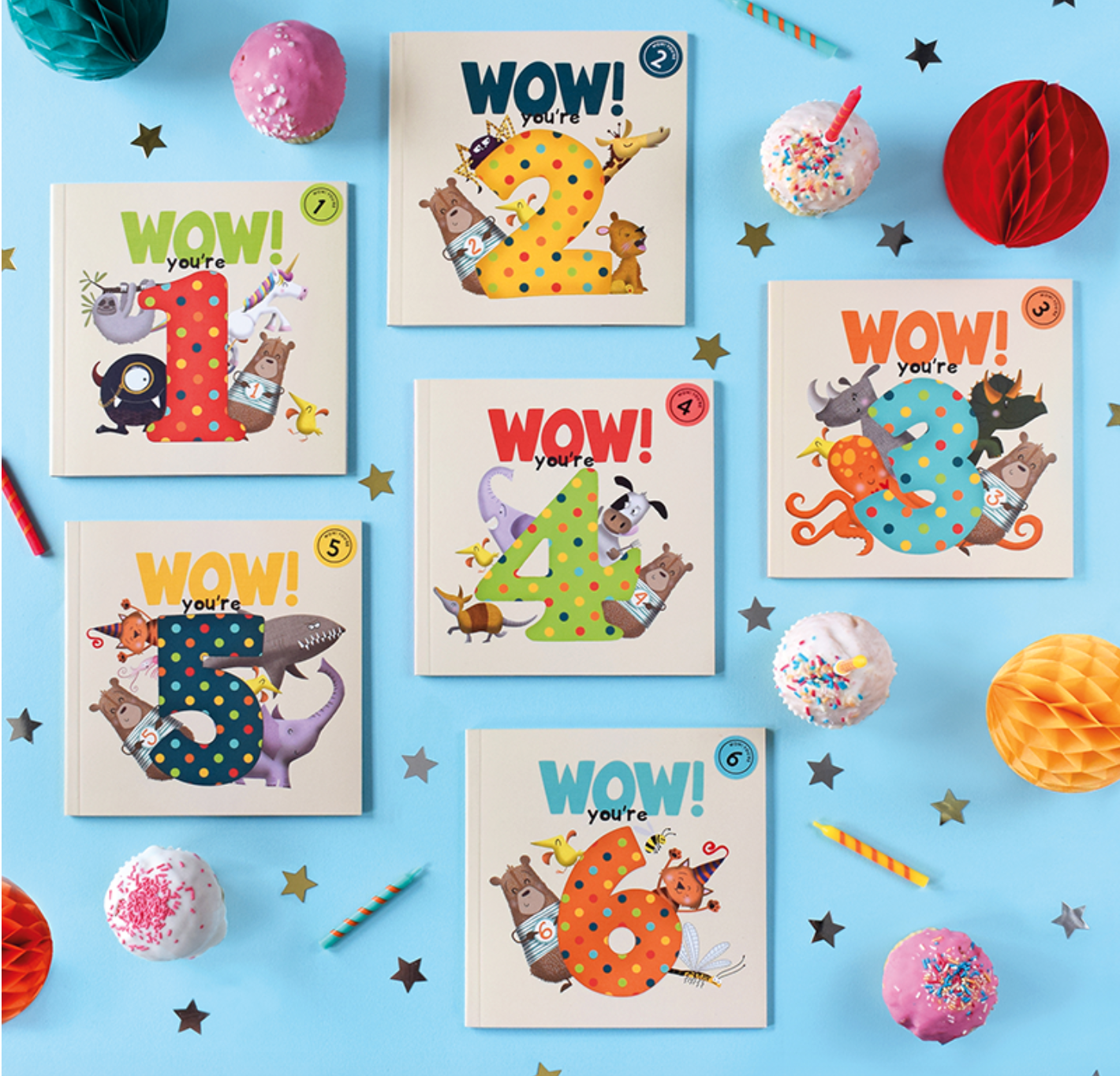 Above: The WOW! You're…Birthday Books are designed to kept and treasured.