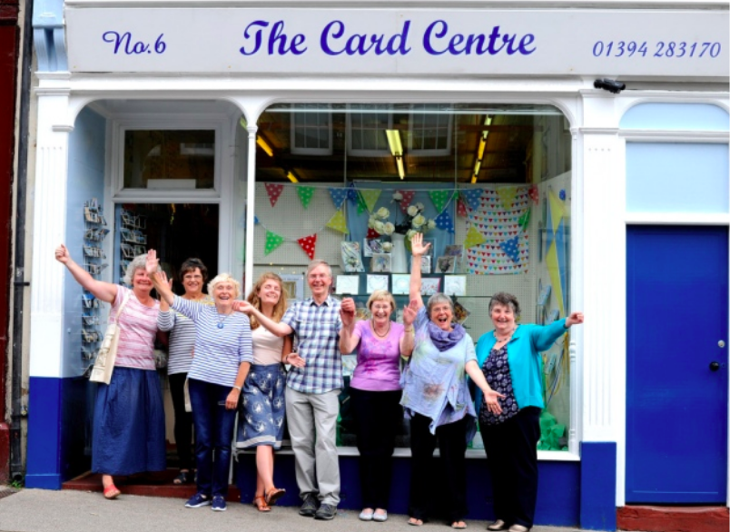 Above: The Card Centre in Felixstowe.