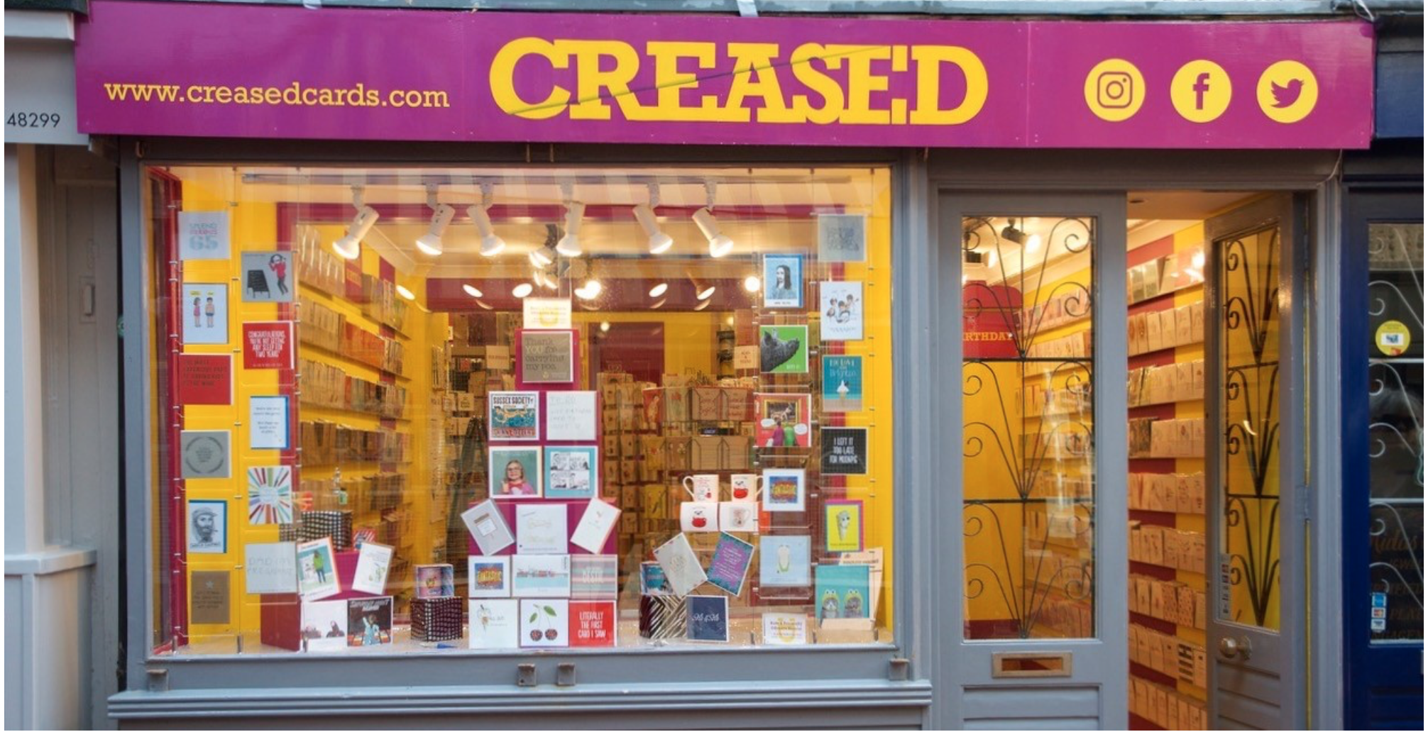 Above: Creased Cards in Brighton.