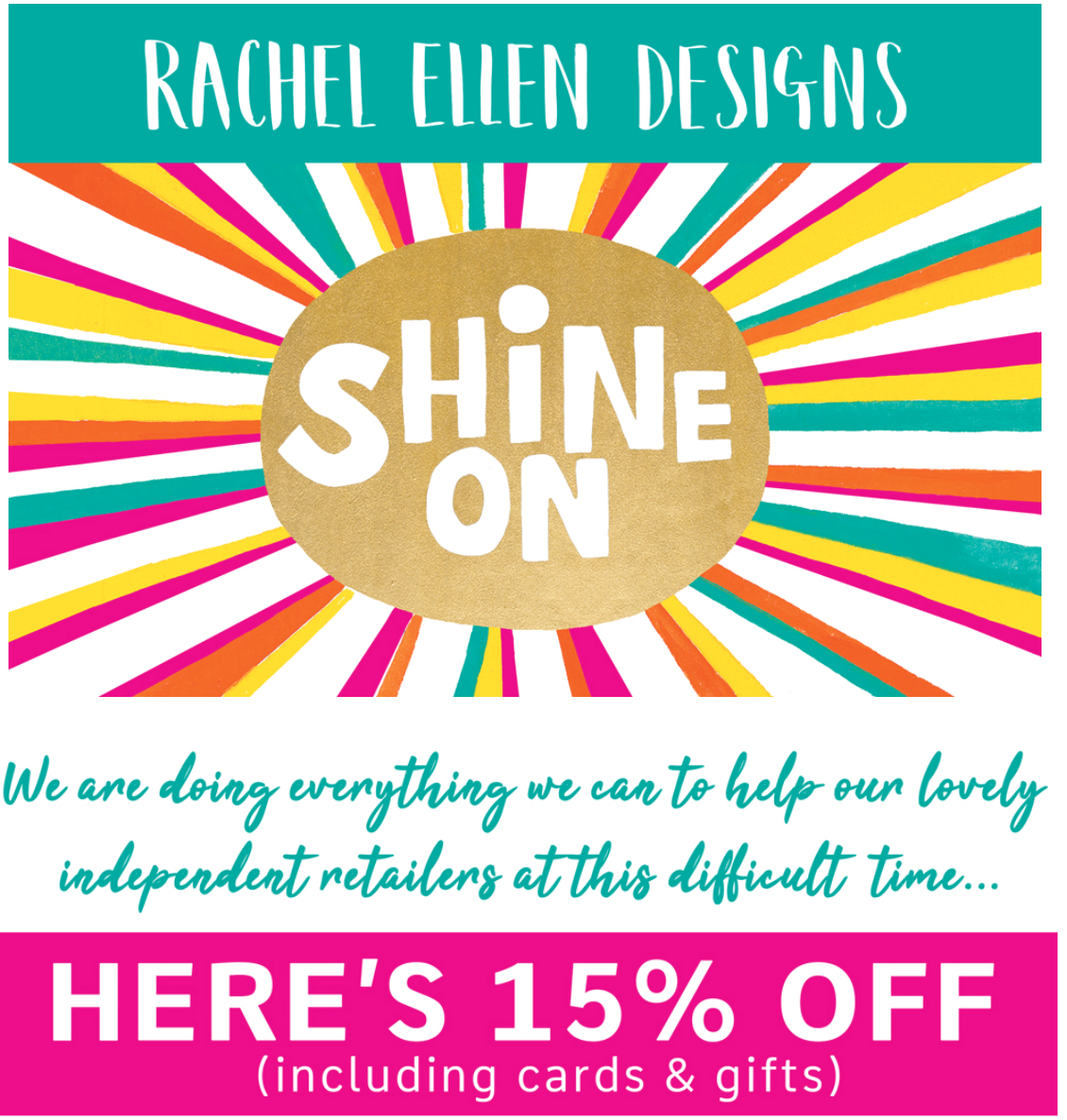 Above: Rachel Ellen Designs is among the publishers who are trying to help retailers by offering discounts and better trade terms.