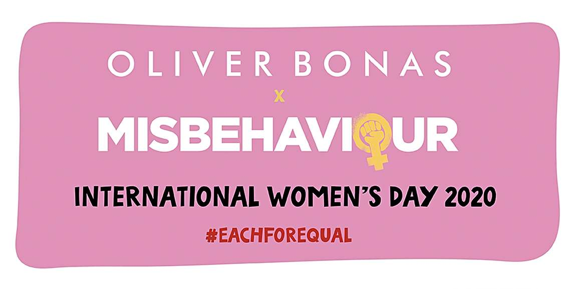 Above: Oliver Bonas' promotion was in partnership with Misbehaviour – a new film out 13 March.