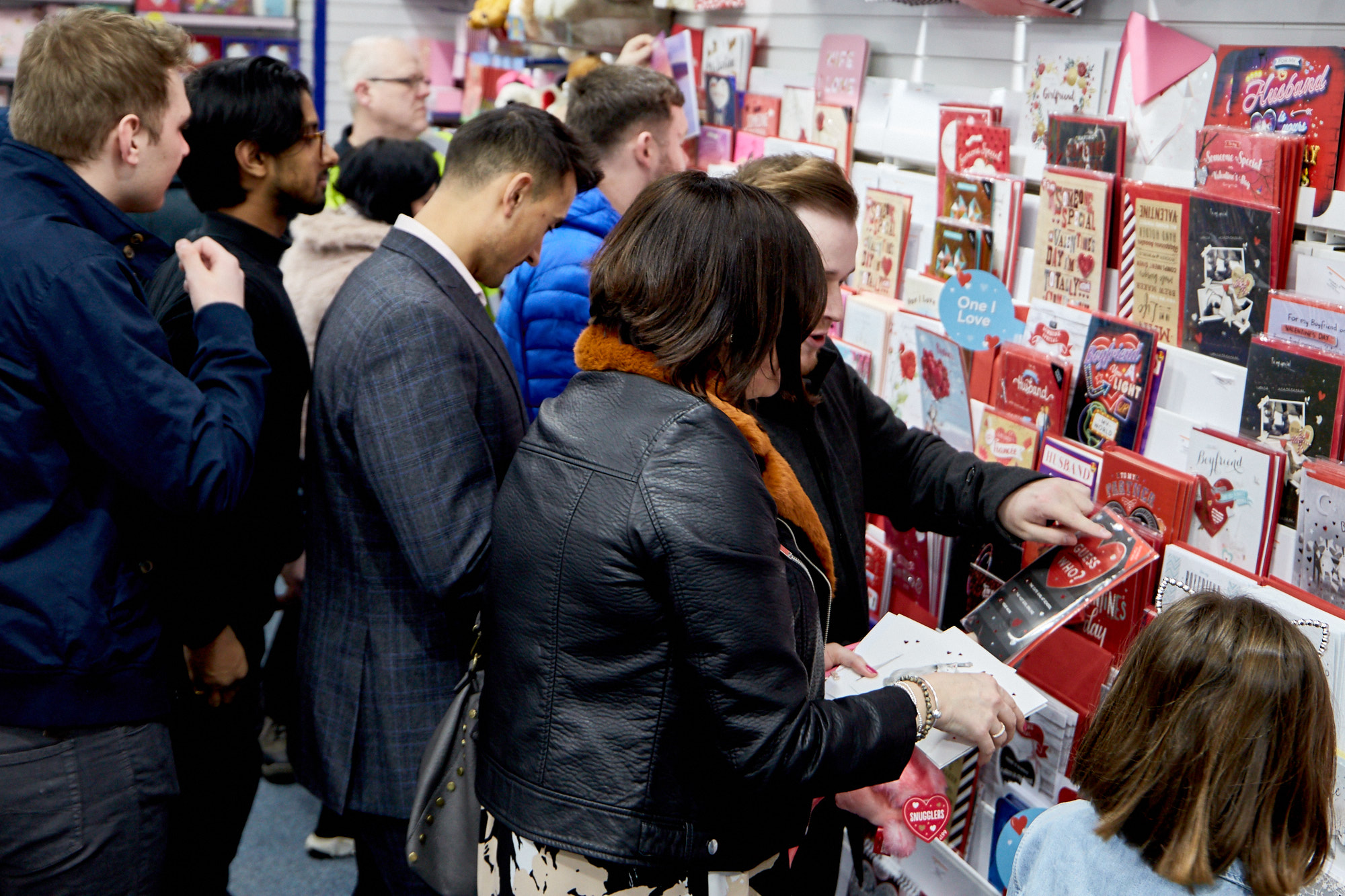 Above: Card Factory's Valentine's proposition in The Reject Shop went down well with shoppers.