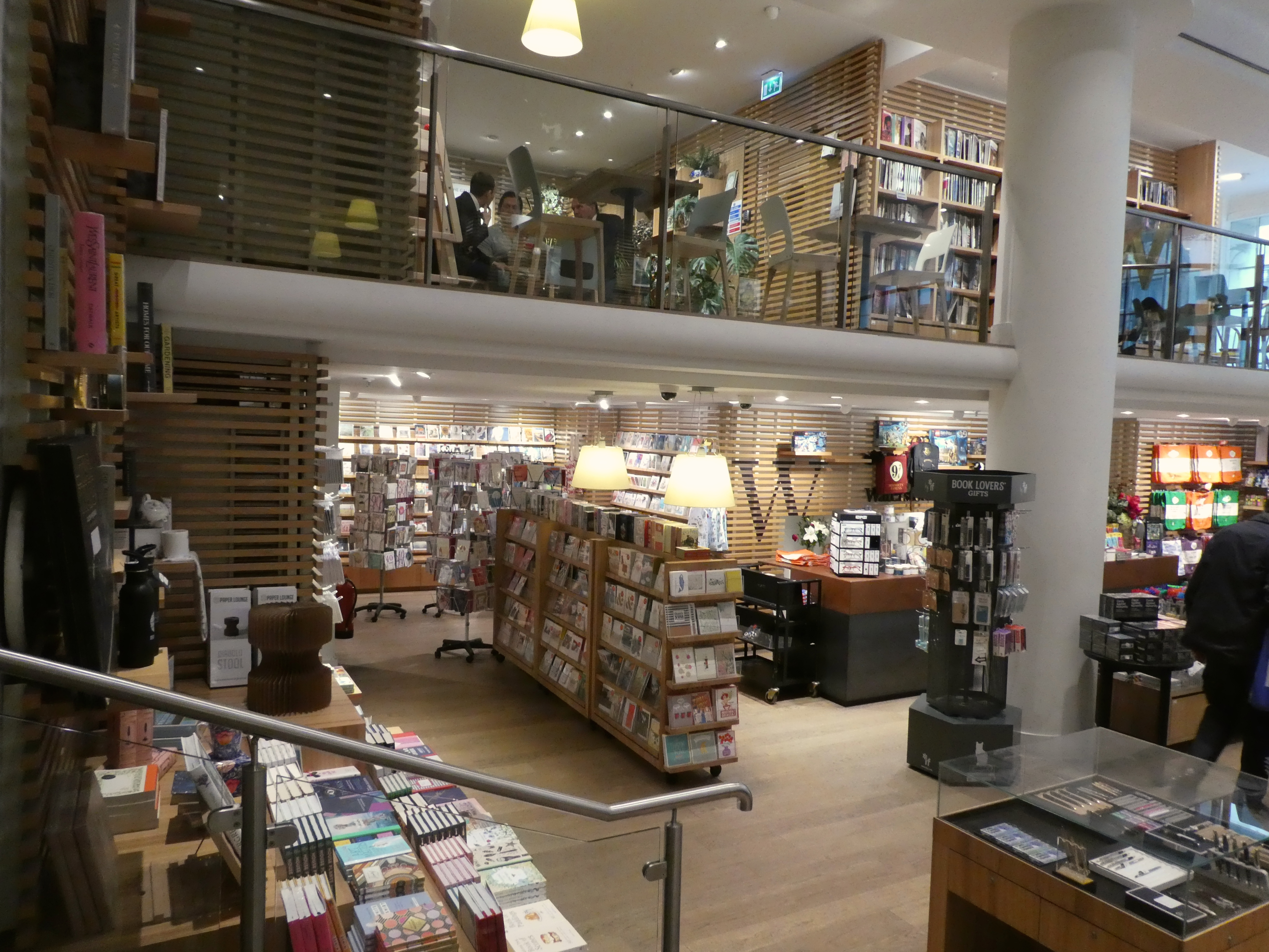 Above: Over the last year the greeting card sales in Waterstones have increased 5%-10%.