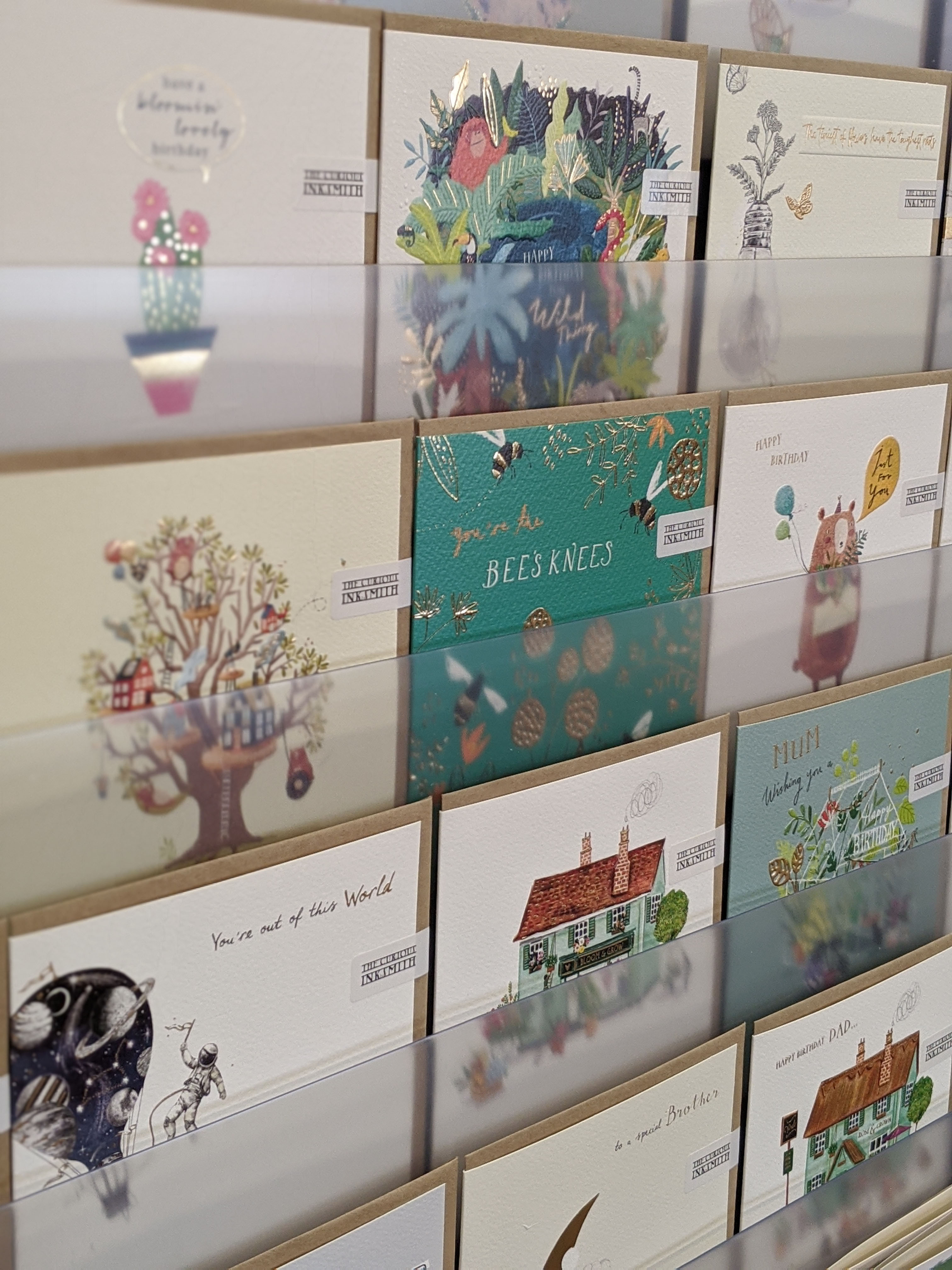 Above: The Curious Inksmith range has recently expanded with 34 new open cards and 10 new relations designs.