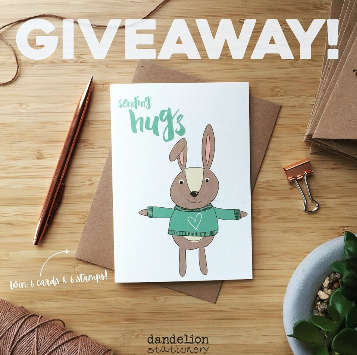 Above: In addition to helping its retail stockists, Dandelion Stationery has also taken to Instagram with a fun giveaway competition for consumers to help them keep in touch.
