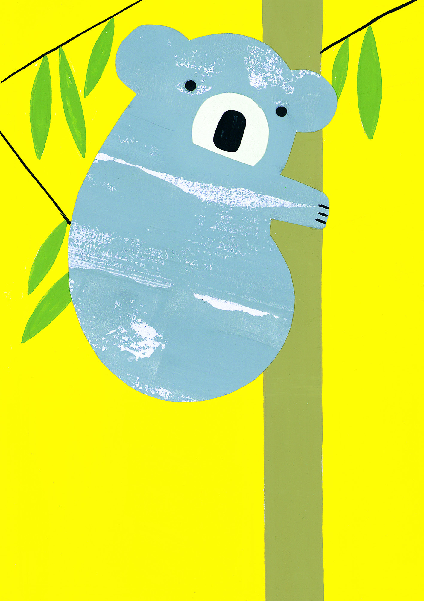 Above: Hang On! by Hannah Pontin from ArtPress' The Wildside range.