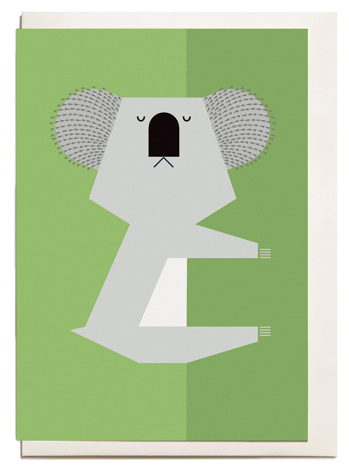 Above: A determined koala on an I Ended Up Here card.