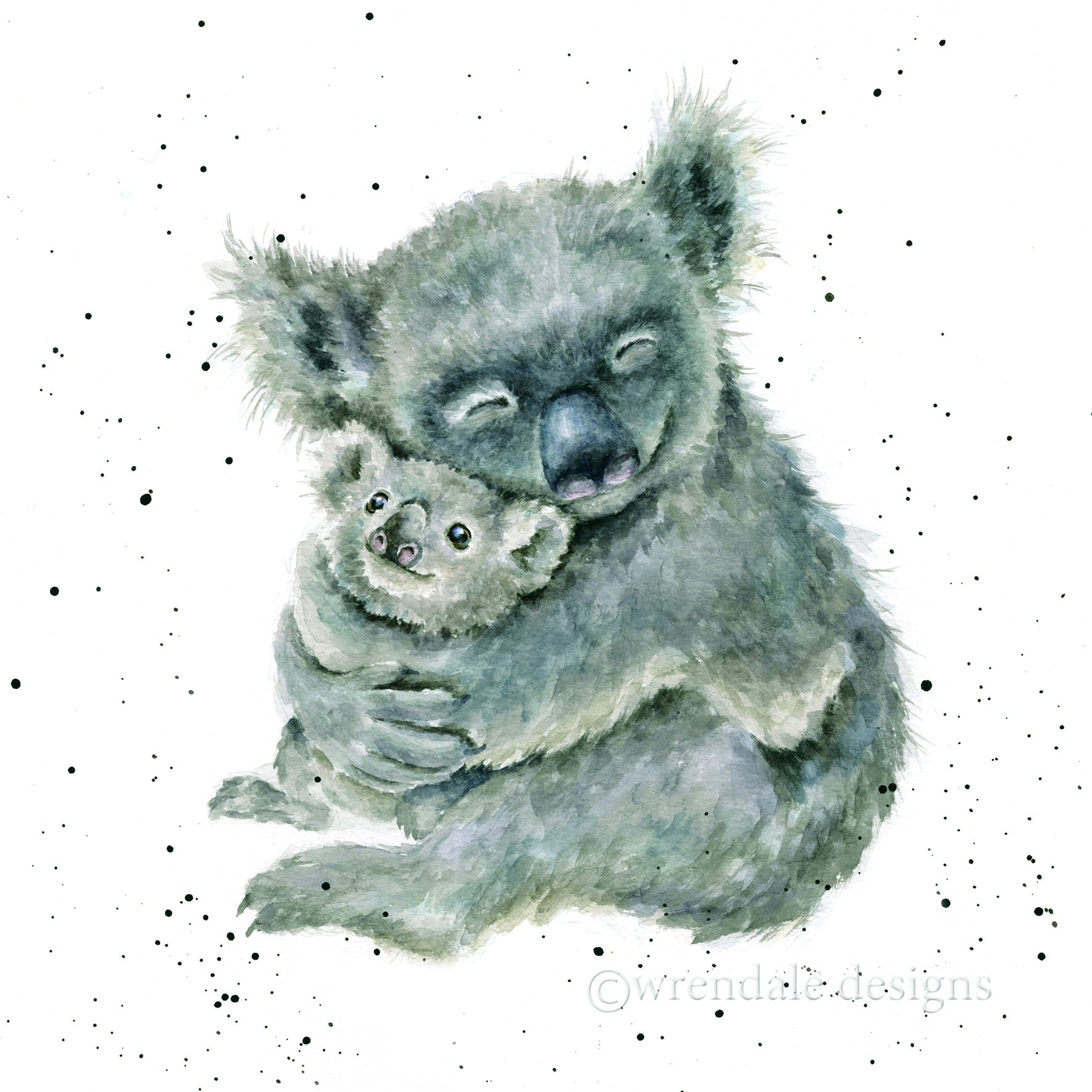 Above: Wrendale raised over £20,000 in donations for the WWF Australia Appeal with its mother and baby koala watercolour draw giveaway.