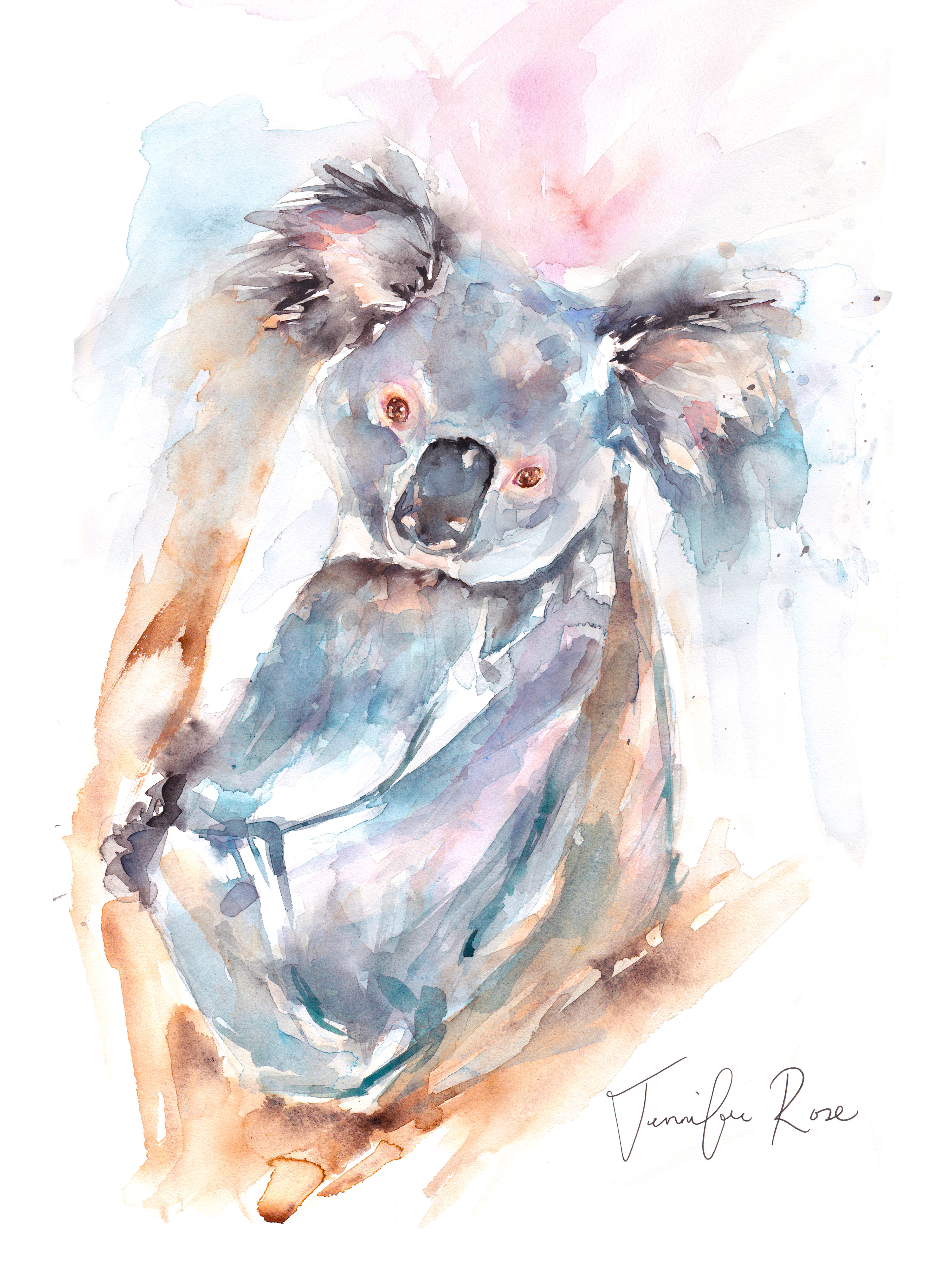 Above: Jennifer Rose Gallery's watercolour koala is available on cards.