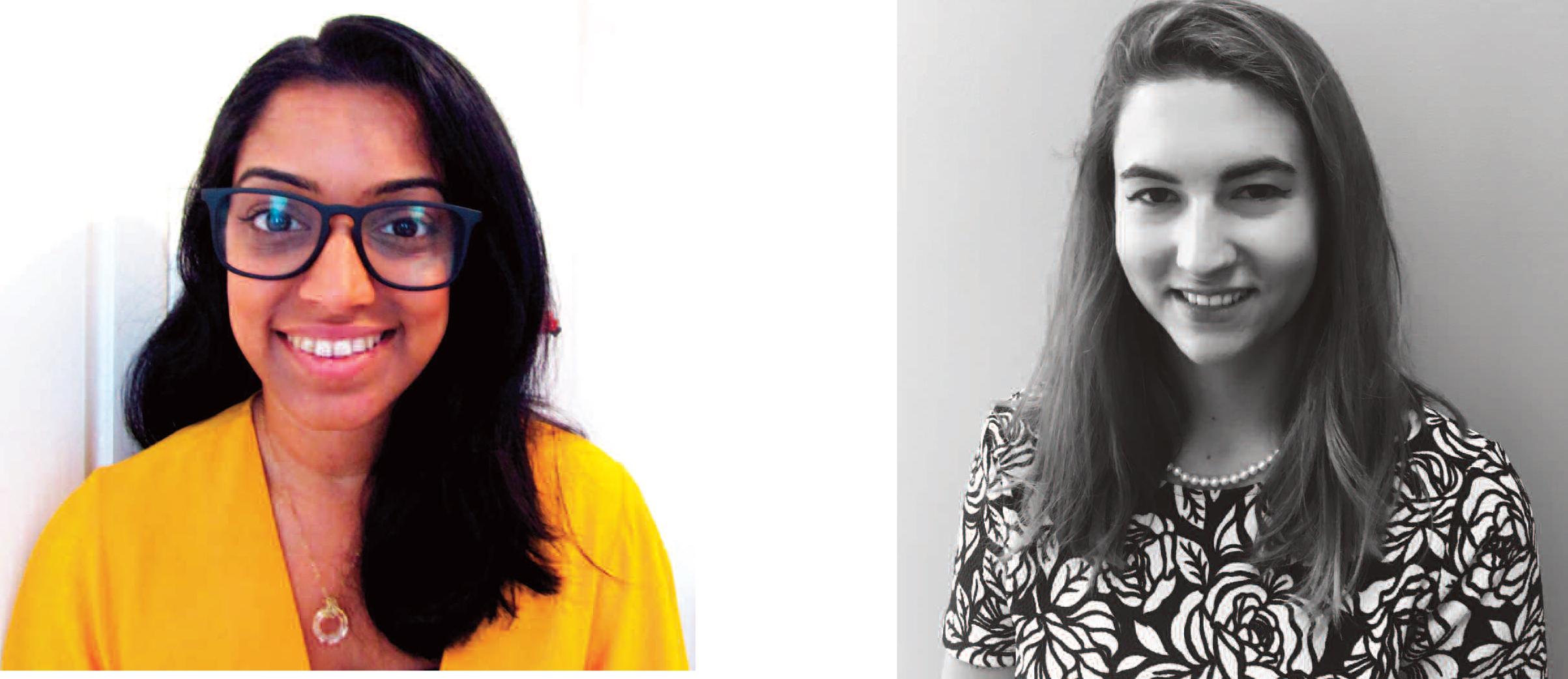 Above: Advocate Art's Bhavisha Vadgama and Amanda Hendon.