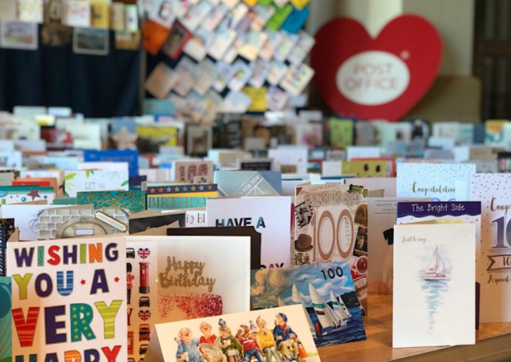Above: The cards sent to Captain Tom are a mixture of handmade, personalised and branded greeting cards.