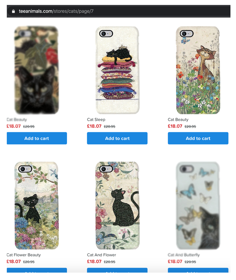 Above: Bug Art designs have also been misappropriated onto phone cases.