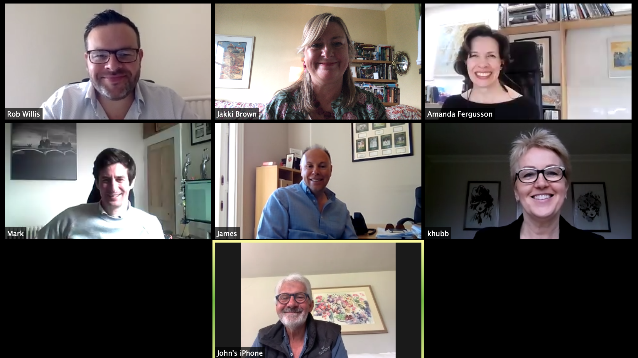 Above: Last week's PG Buzz.net Zoom meeting of some of the UK's leading retailers, including Karen Hubbard (of Card Factory), Paul Taylor (of Cardzone), John Procter (of Scribbler) and Mark Janson-Smith (of Postmark).