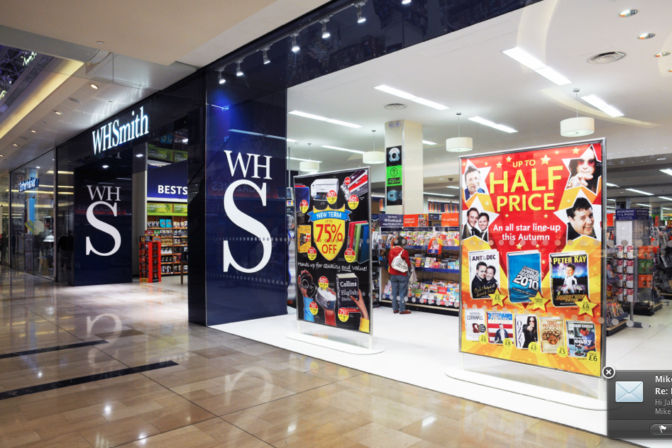 Above: WHSmith has raised £166m by issuing more shares to shore up finances during the Covid-19 crisis.