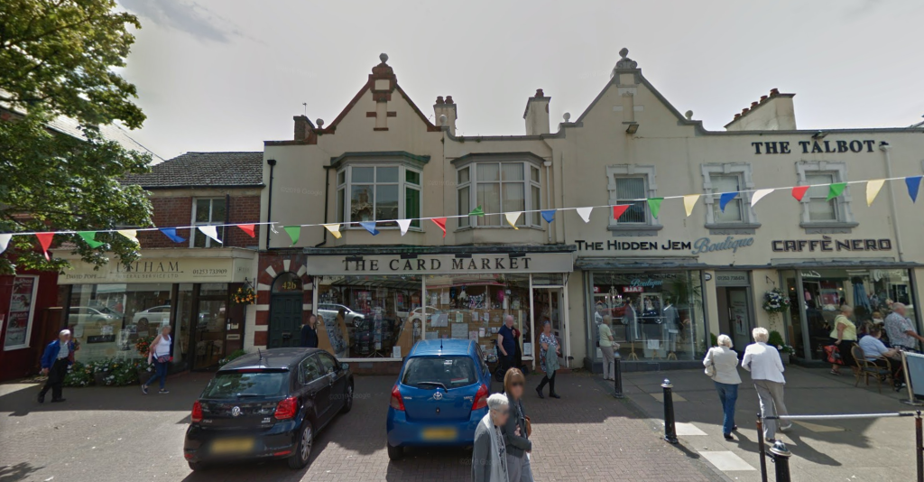 Above: One of three card shops that traded as The Card Market on the Flyde coast.