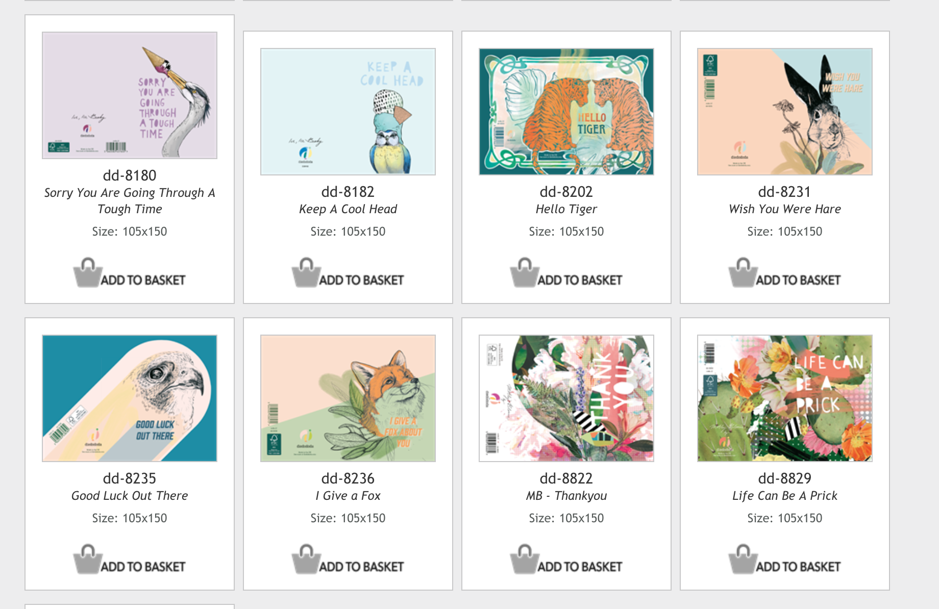 Above: A snapshot of some of the designs available on the Simplicity Direct site.