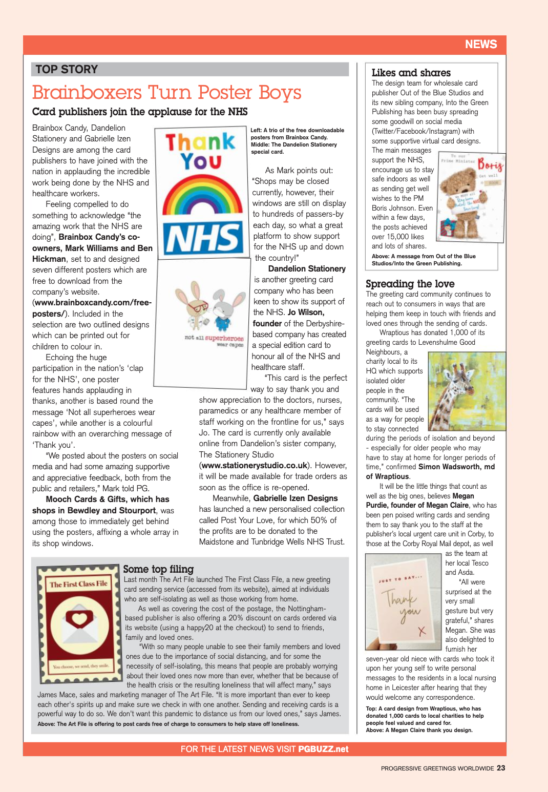 Above: So many publishers have come out with ways of showing support to the NHS.