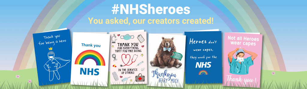 Above: Thortful, in addition to supporting the NHS with other cards it is also donating 100% of all profits for 100th birthday cards up to Tom's birthday.