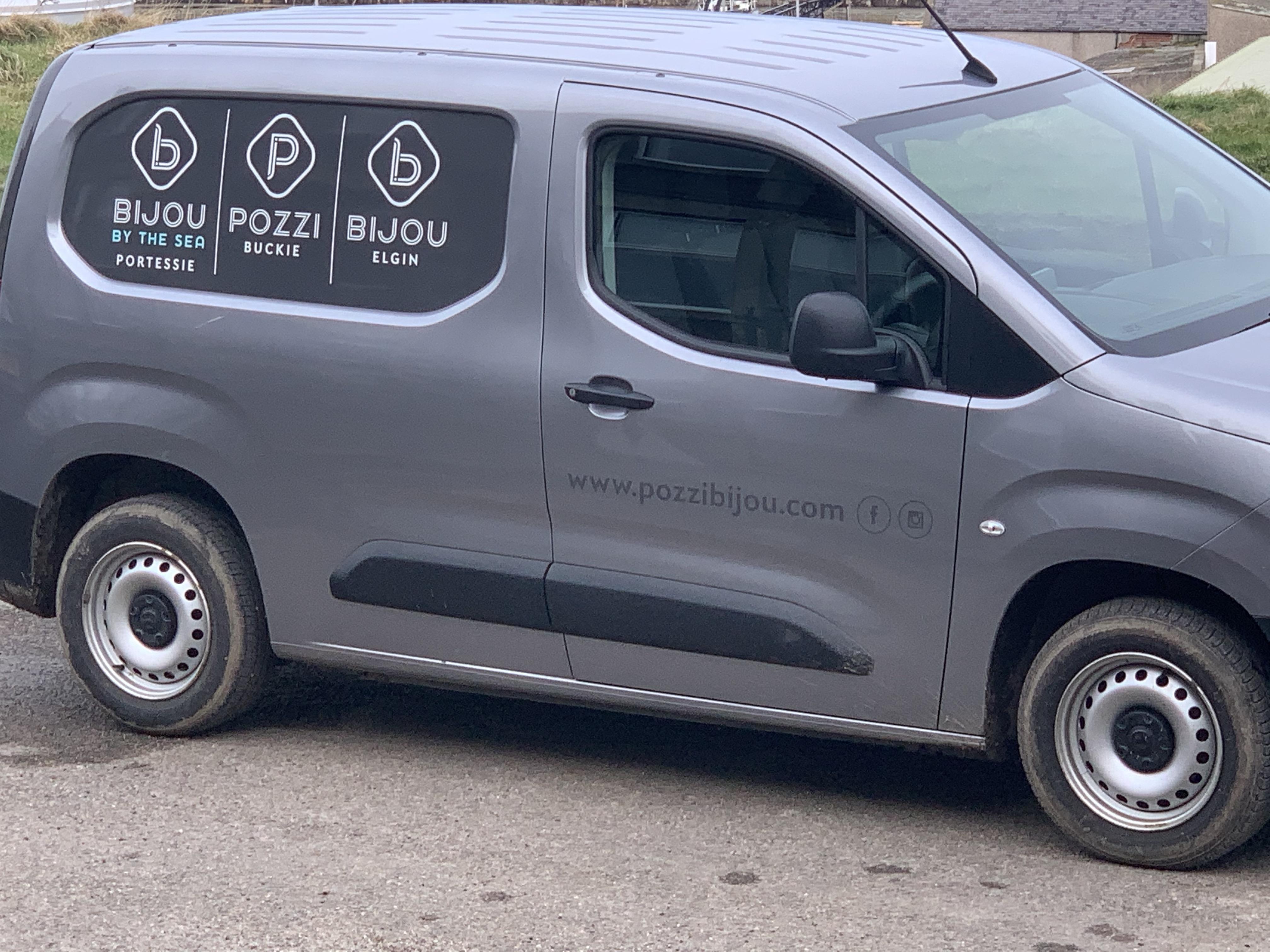 Above: Have van, will deliver!